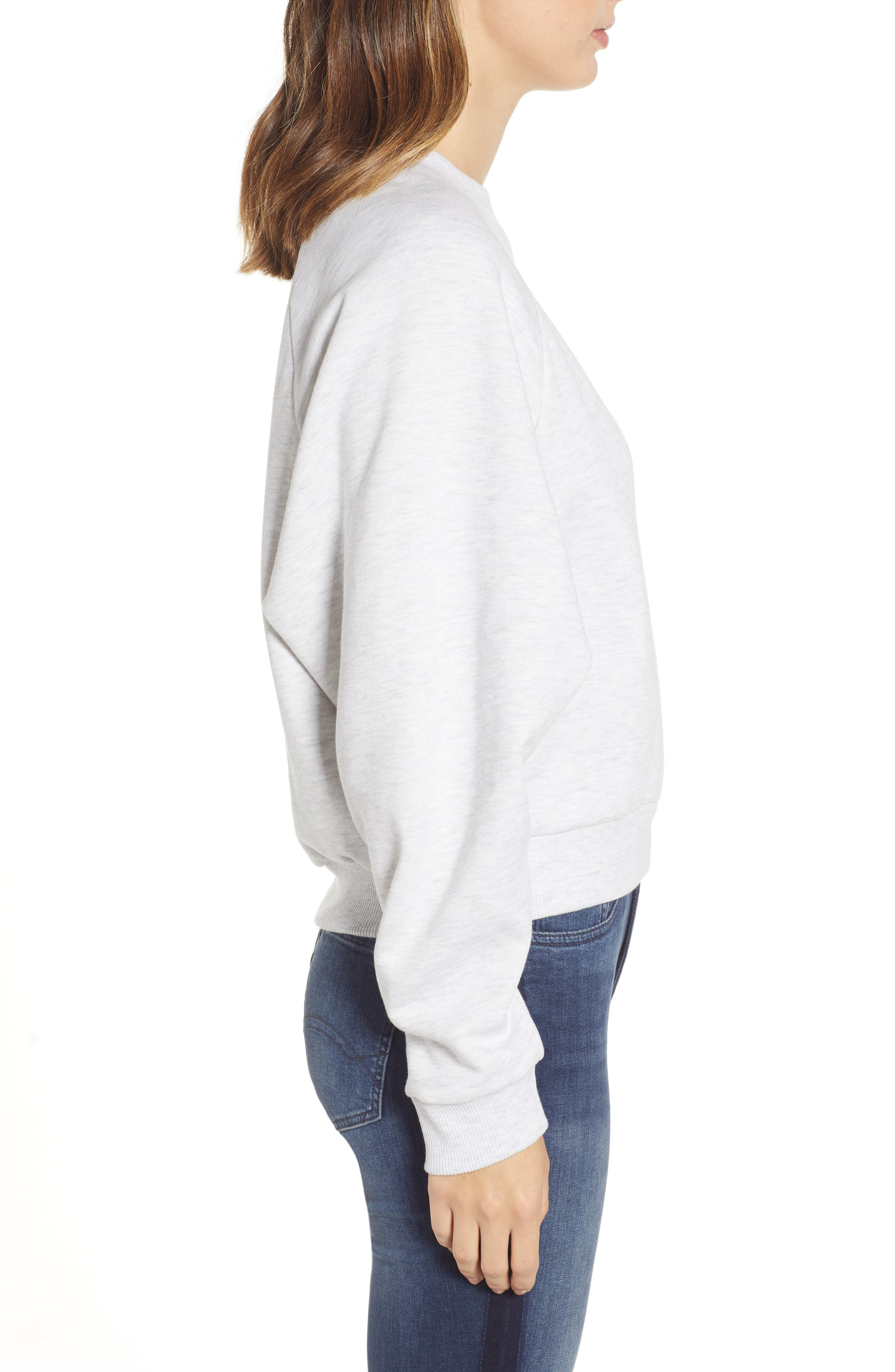 TJW Raglan Sweatshirt,                             Alternate thumbnail 3, color,                             PALE GREY HEATHER