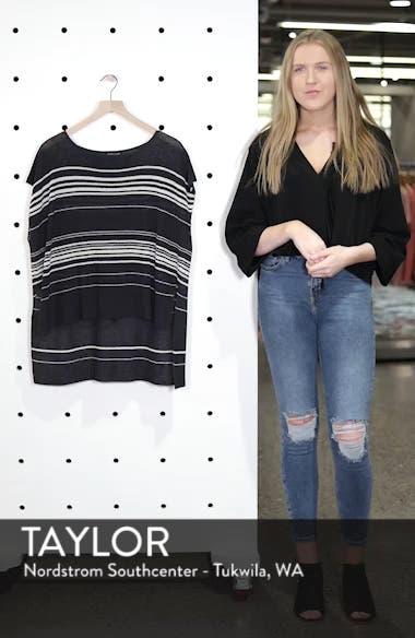 Organic Linen Blend Poncho Sweater, sales video thumbnail