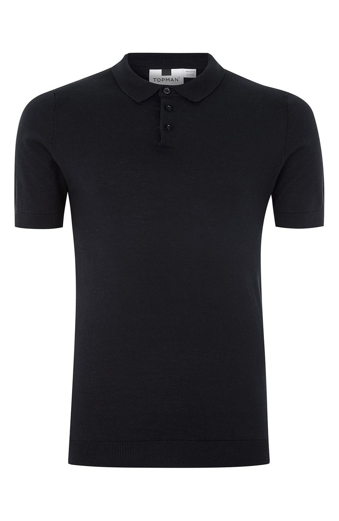 Marled Knit Polo,                             Alternate thumbnail 8, color,