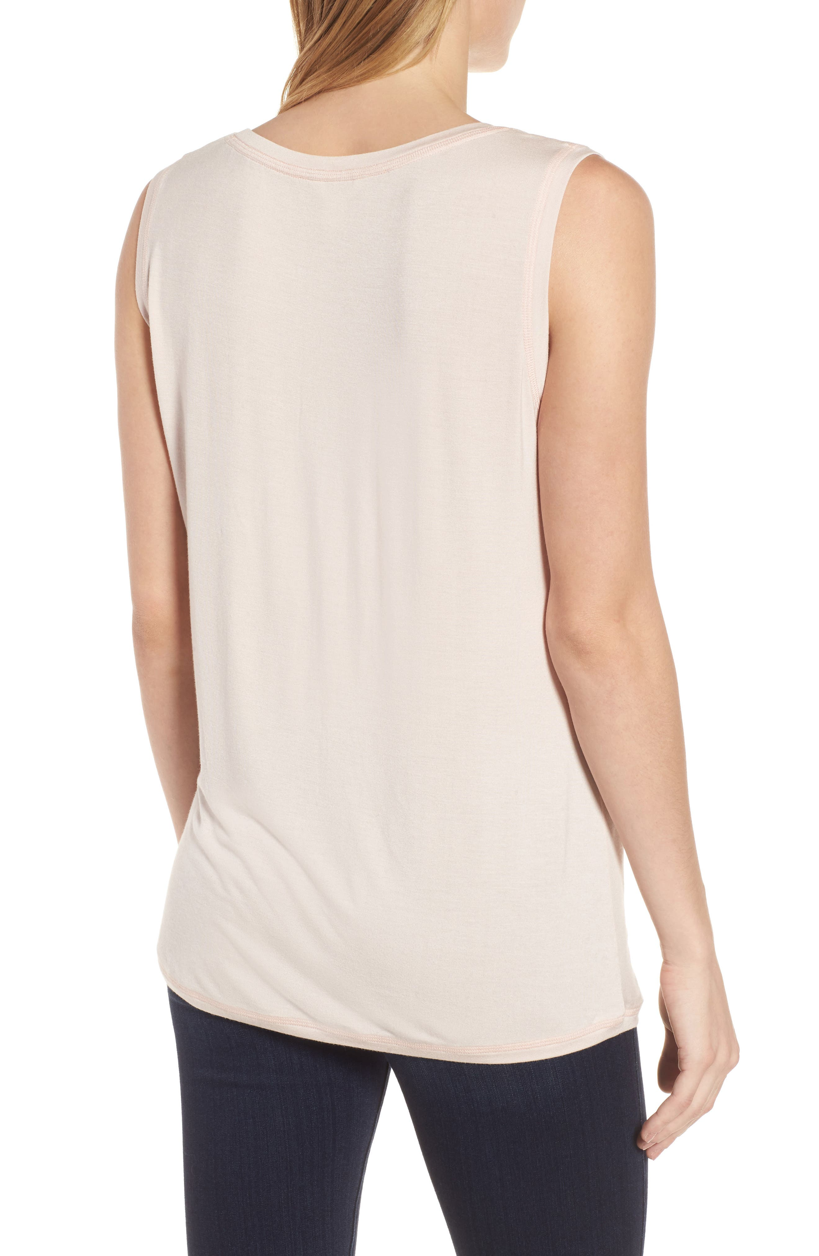 Off-Duty Shirred Sleeveless Tee,                             Alternate thumbnail 10, color,