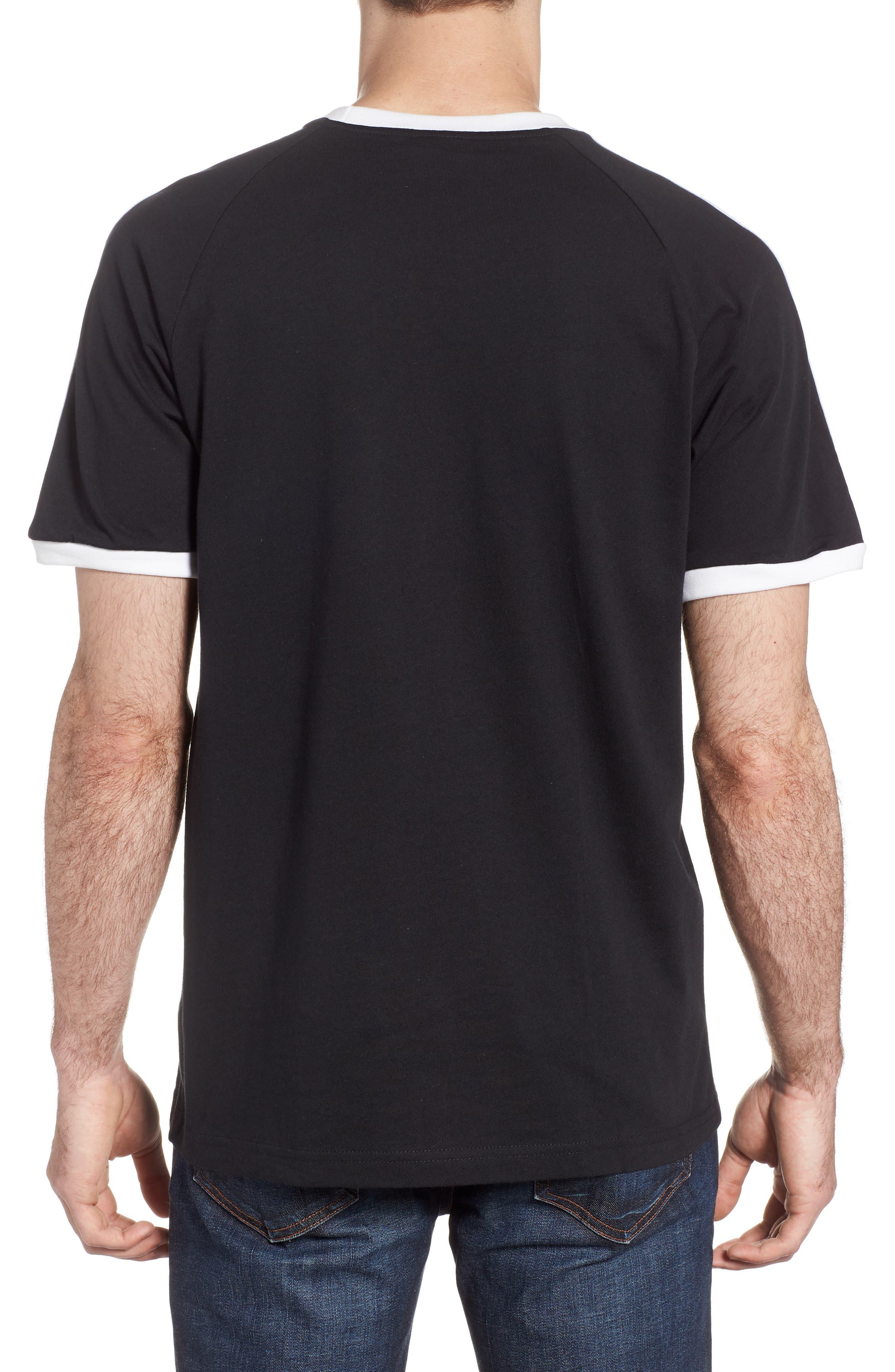 3-Stripes T-Shirt,                             Alternate thumbnail 2, color,                             BLACK