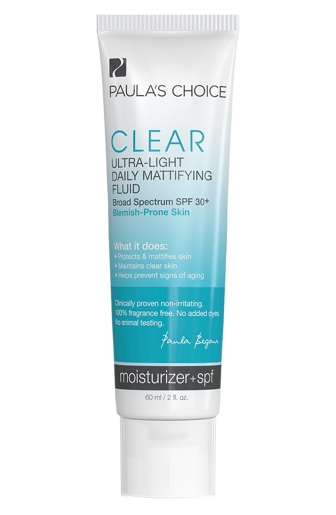 Clear Ultra-Light Daily Mattifying Fluid SPF 30+,                             Main thumbnail 1, color,                             NO COLOR