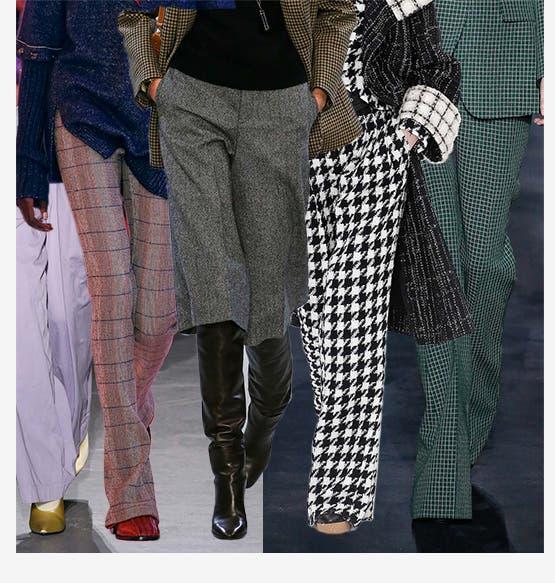 She's got legs: designer pants.