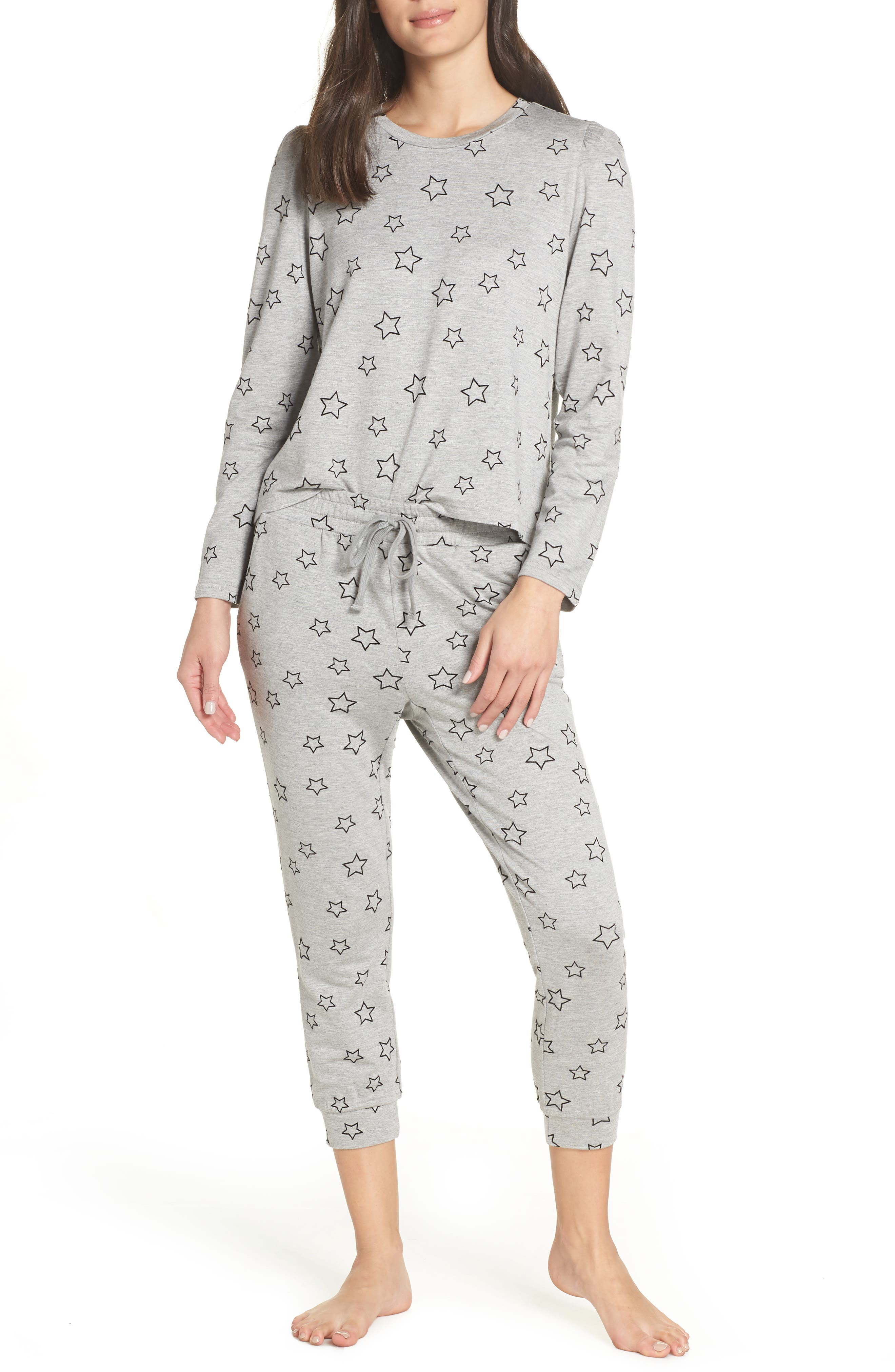 Seeing Stars Lounge Jogger Pants,                             Alternate thumbnail 7, color,                             HEATHER GREY