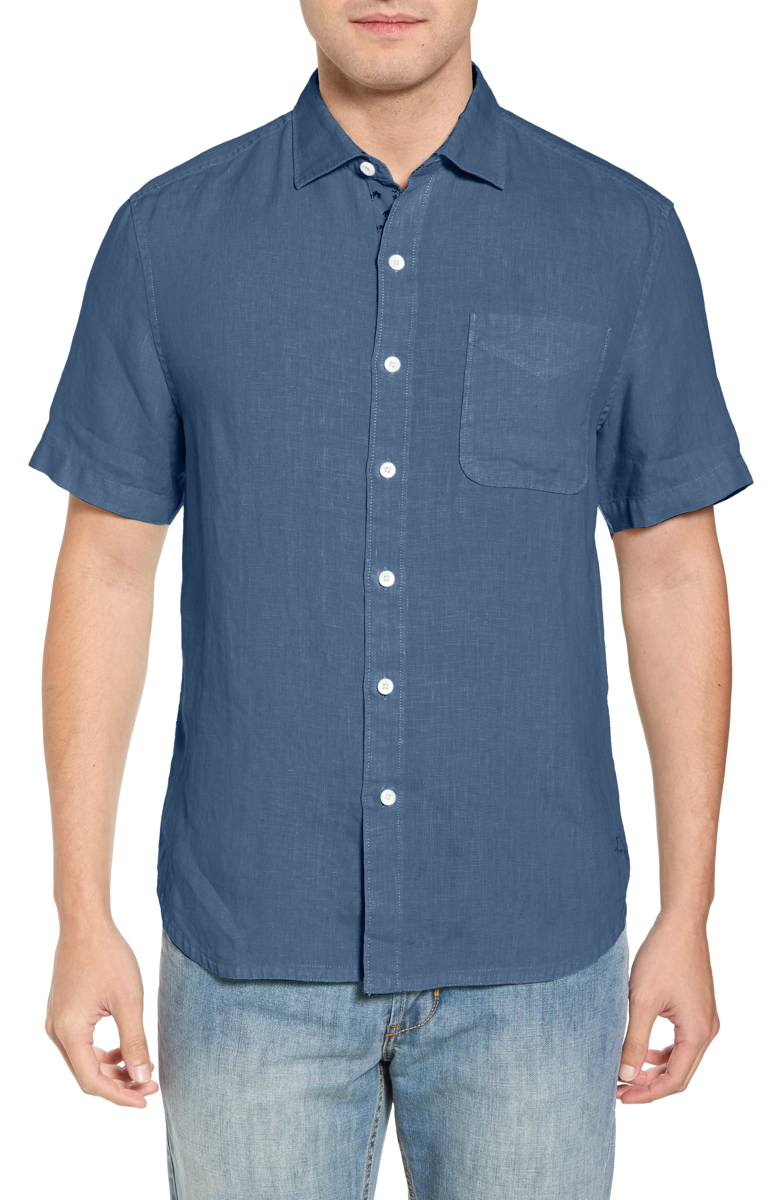 Seaspray Breezer Regular Fit Linen Sport Shirt,                             Main thumbnail 6, color,