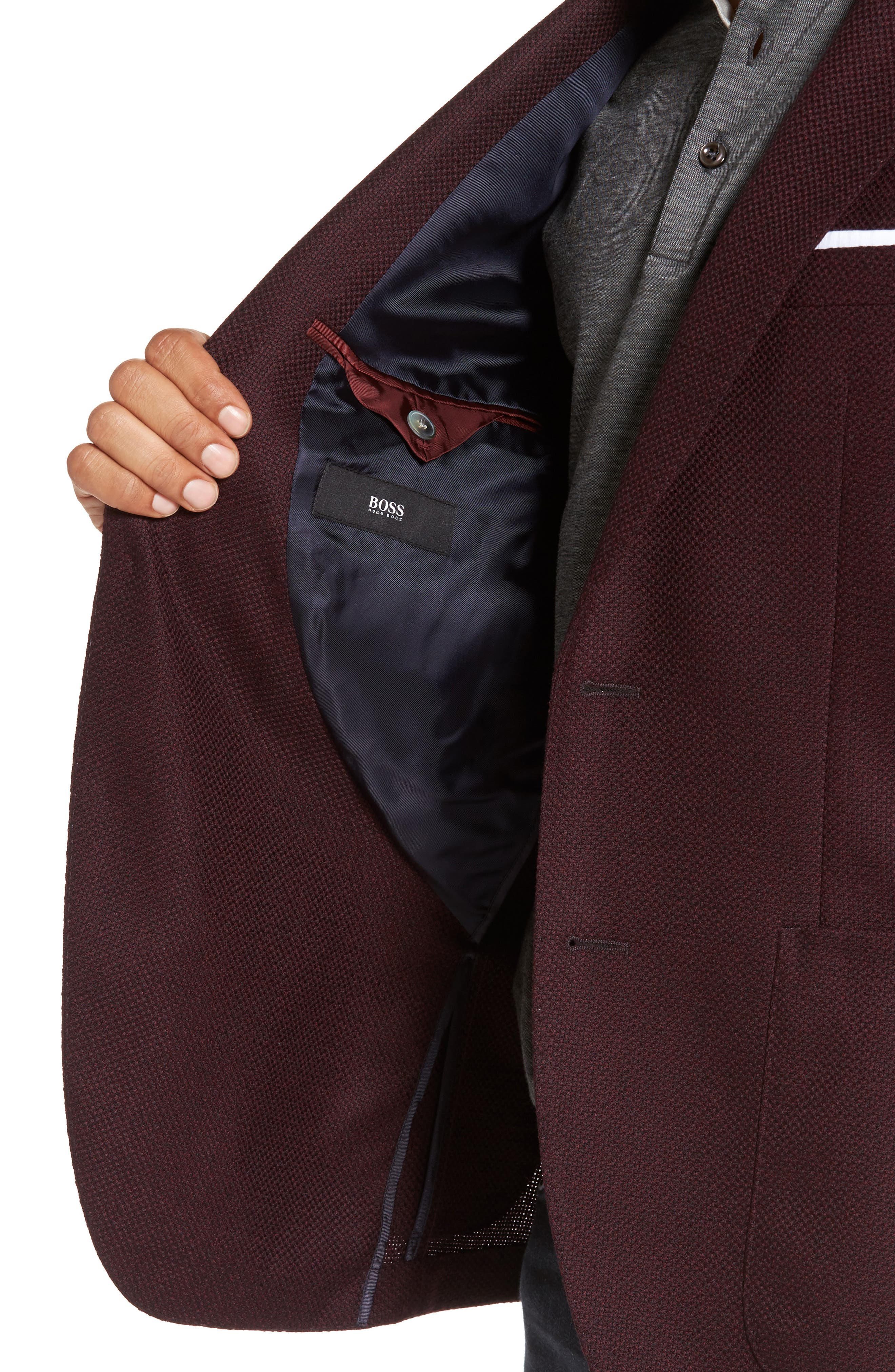 Janson Trim Fit Wool Blazer,                             Alternate thumbnail 4, color,                             606