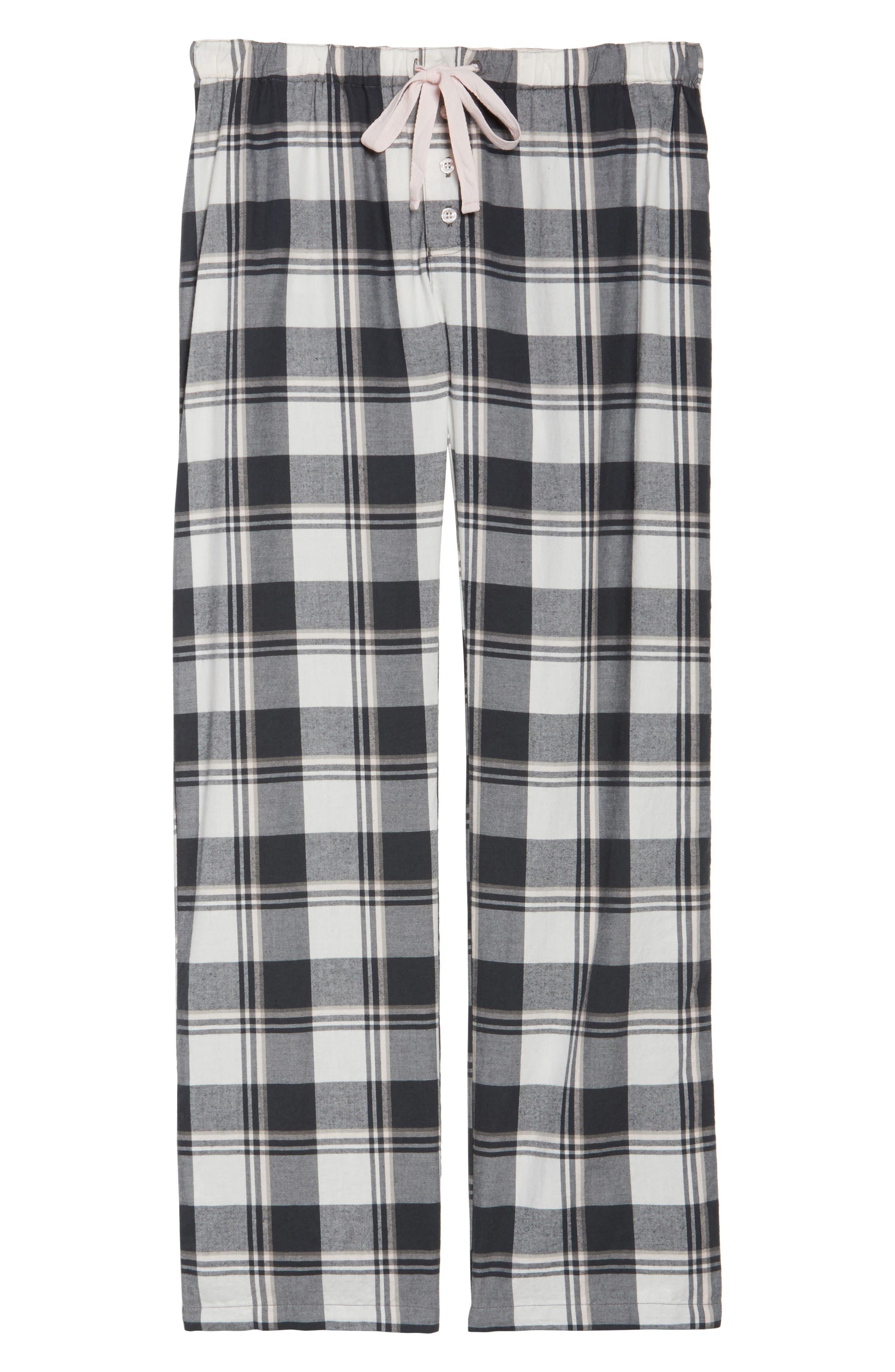 Plaid Pajama Pants,                             Alternate thumbnail 6, color,                             900
