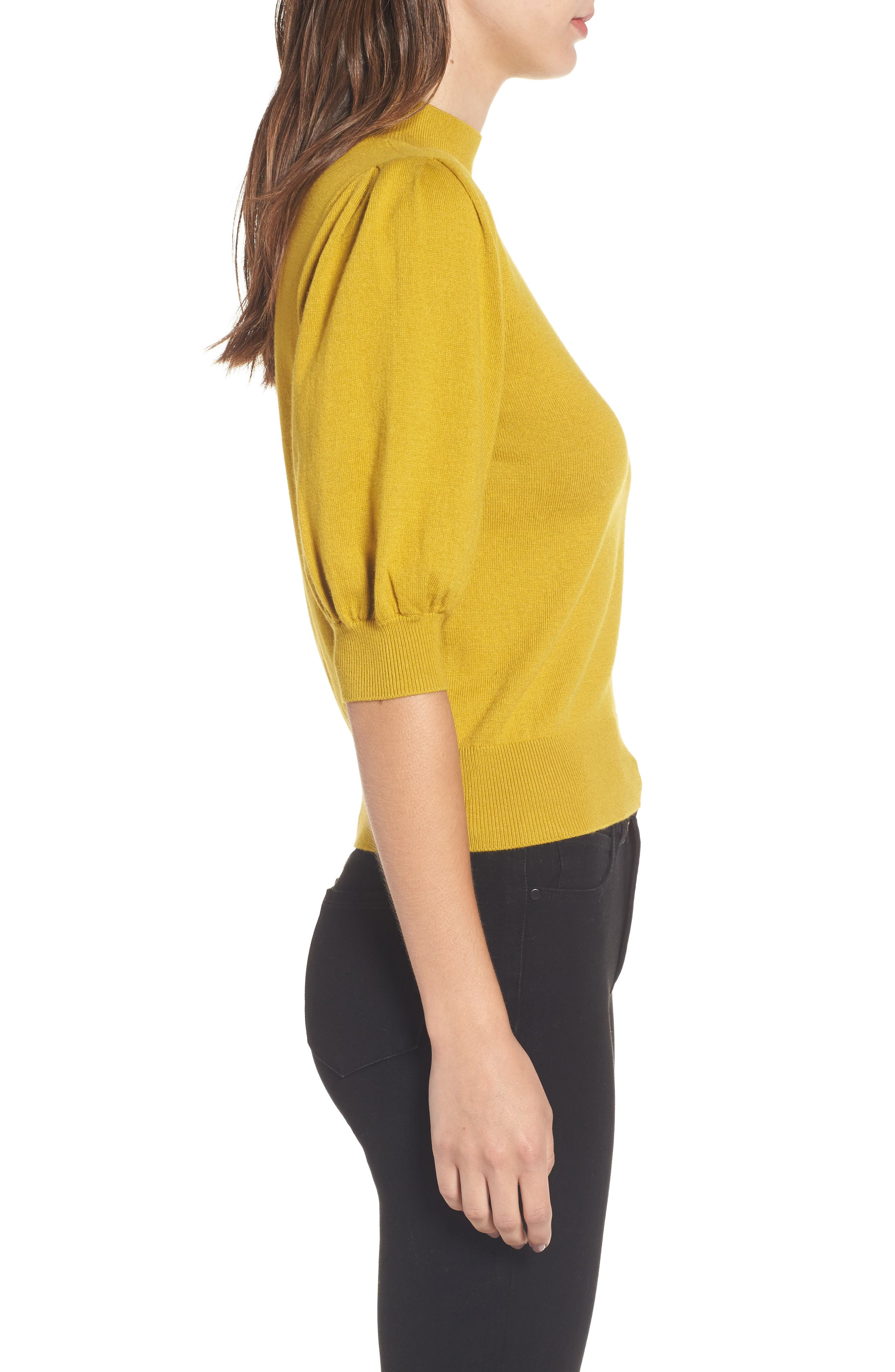 Puff Sleeve Sweater,                             Alternate thumbnail 9, color,