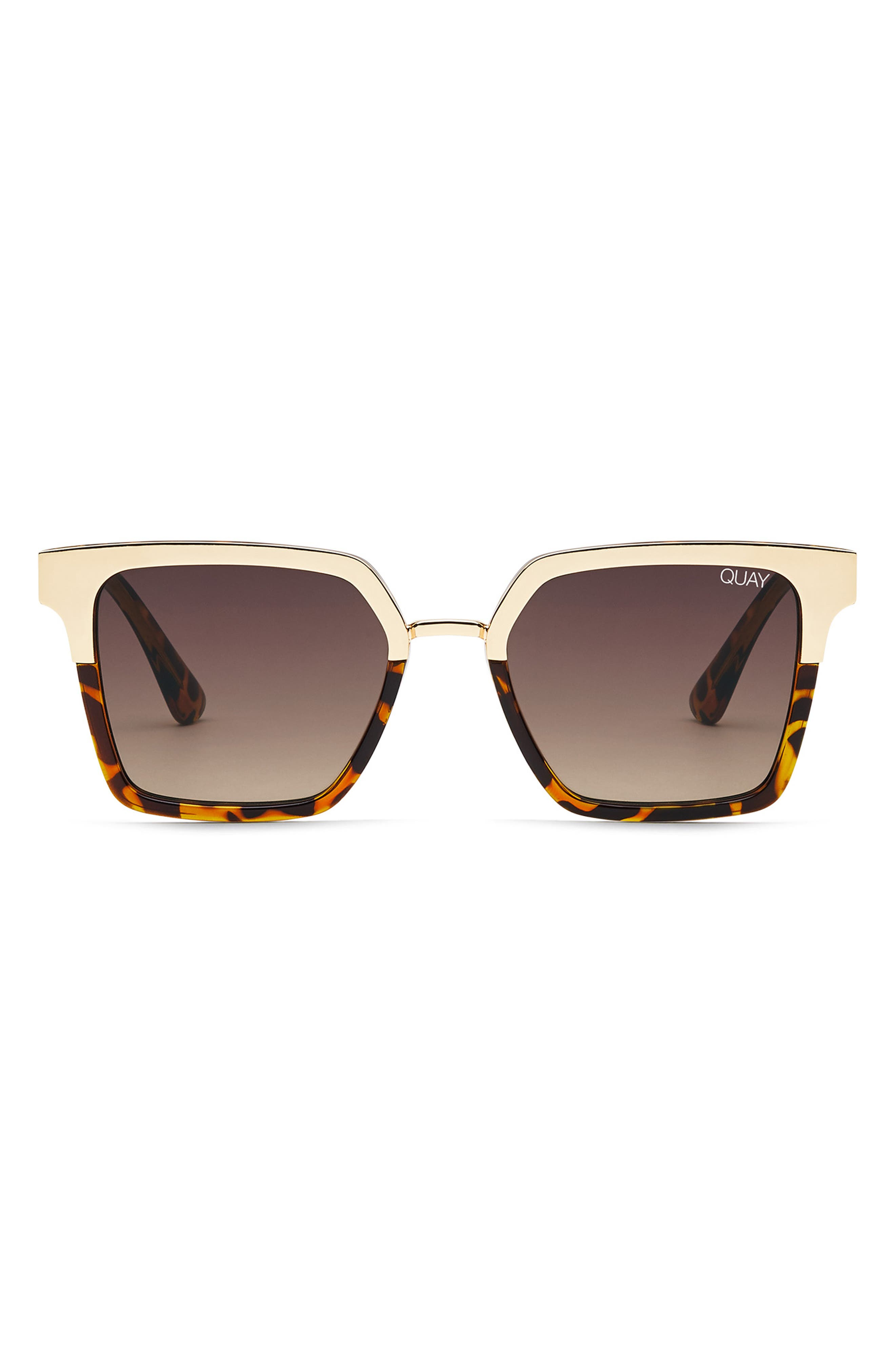 x Jaclyn Hill Upgrade 55mm Square Sunglasses,                             Alternate thumbnail 2, color,                             TORT GOLD / BROWN