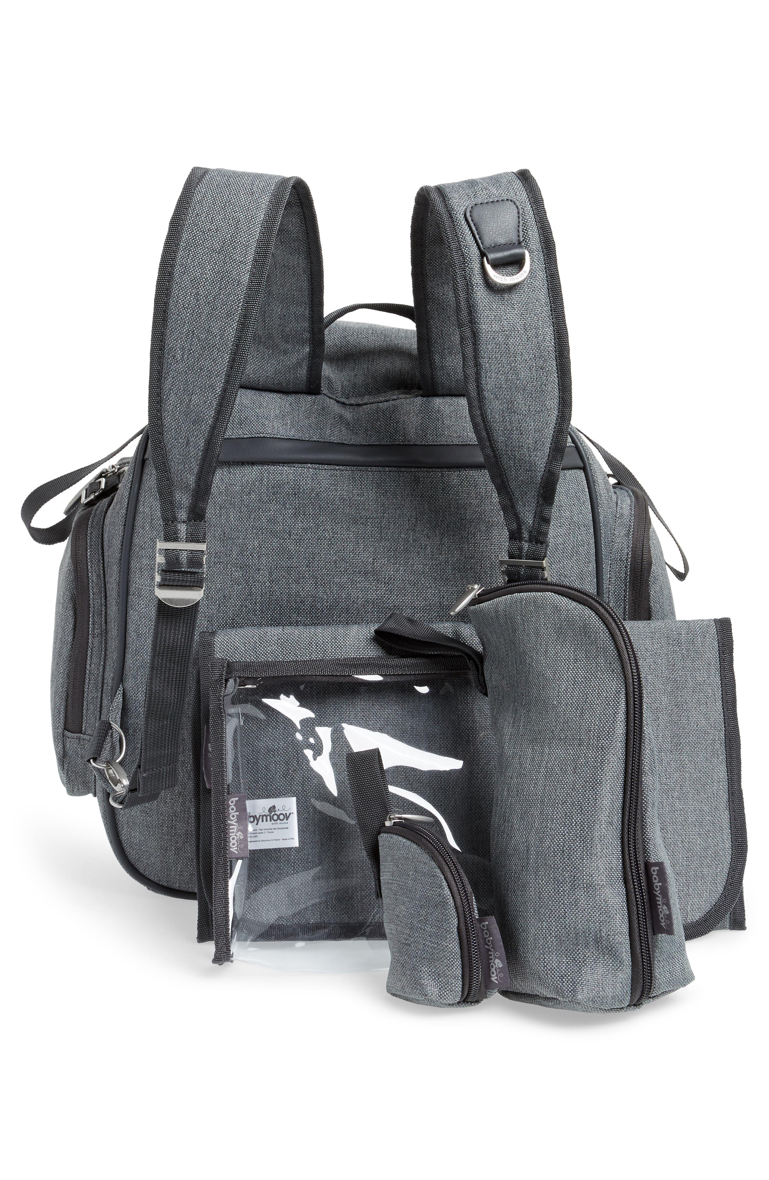 Glober Water Resistant Diaper Backpack,                             Alternate thumbnail 4, color,                             SMOKEY