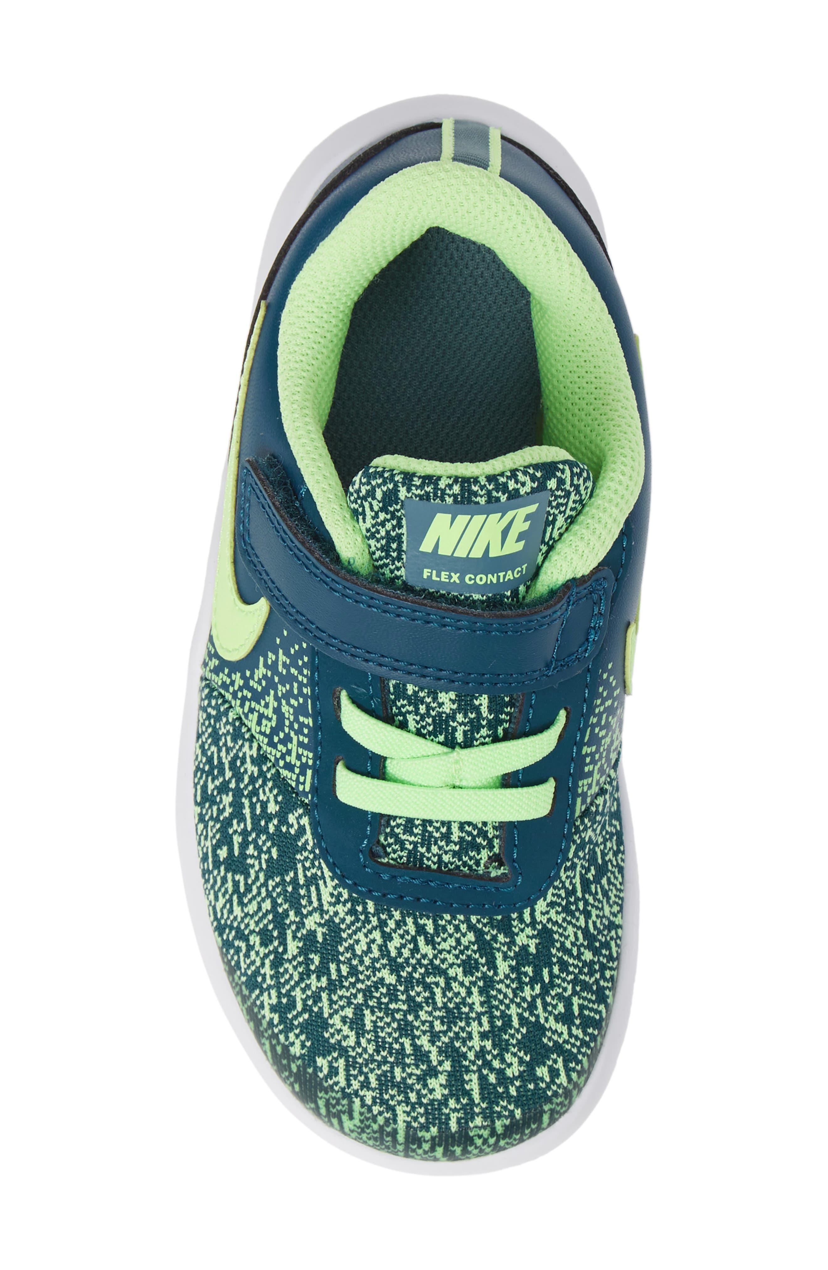 NIKE,                             Flex Contact Running Shoe,                             Alternate thumbnail 5, color,                             BLUE FORCE/ LIME BLAST