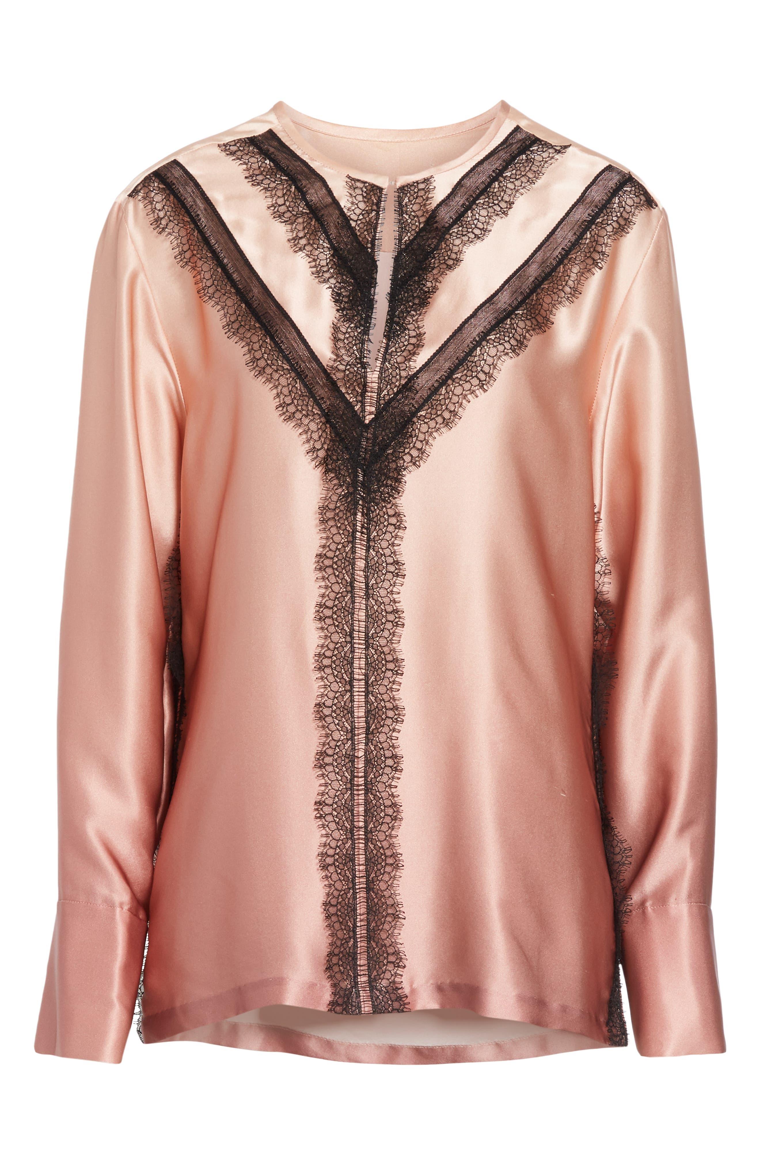 GREY Jason Wu Ombré Silk Shirt,                             Alternate thumbnail 6, color,                             DESERT ROSE