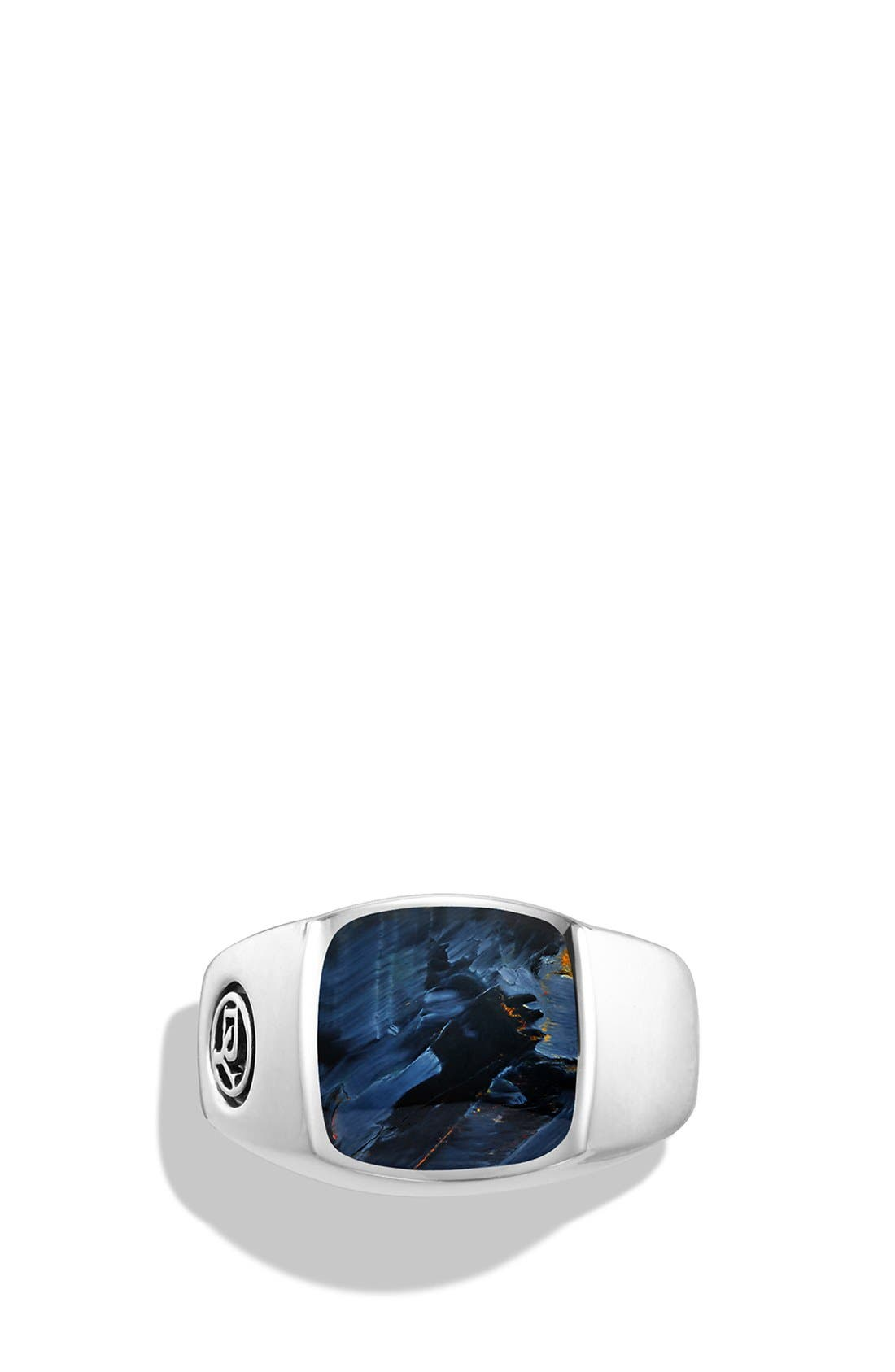 'Exotic Stone' Signet Ring in Silver,                             Alternate thumbnail 2, color,                             PIETERSITE
