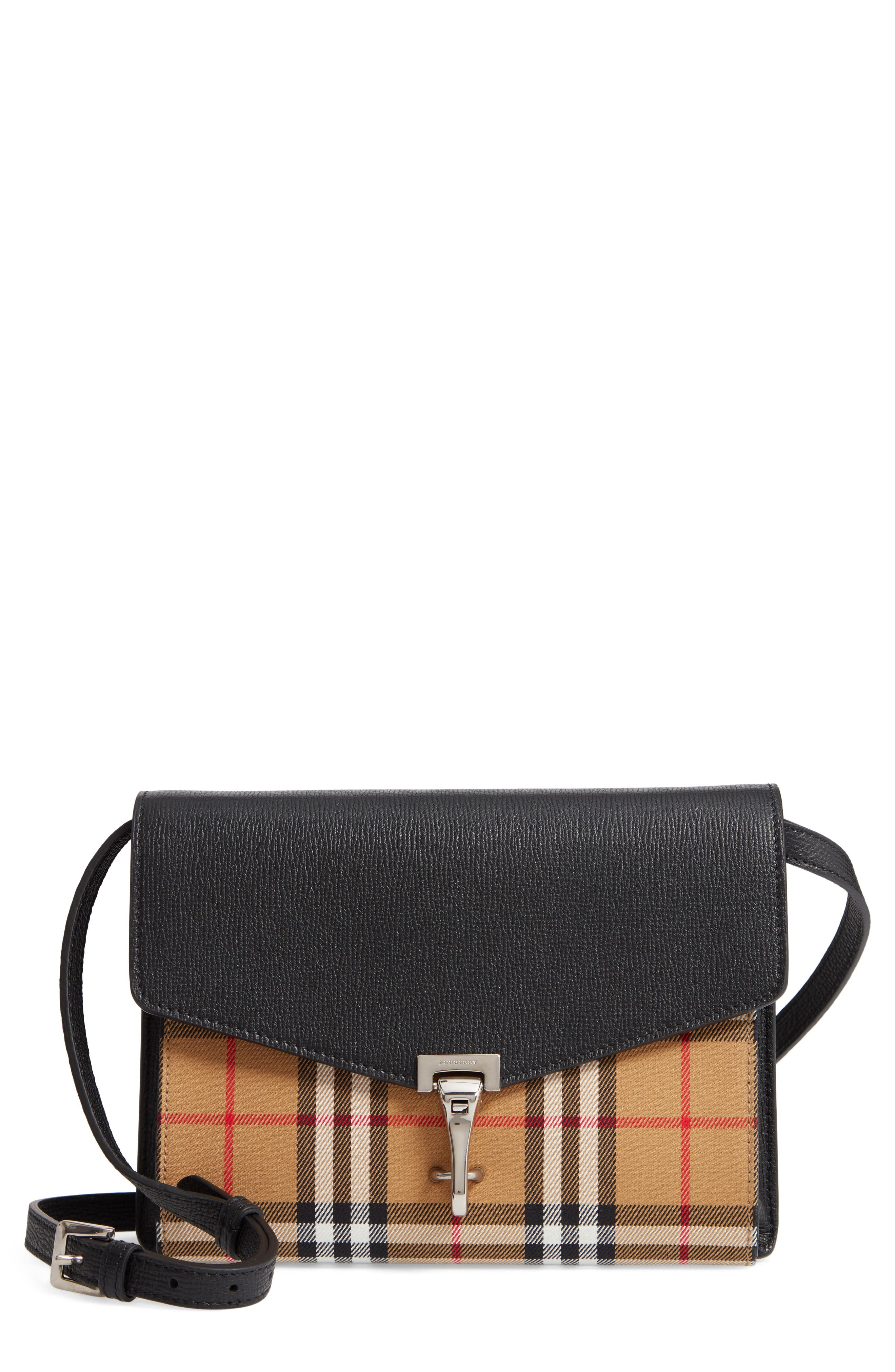 83fc78e75adc Burberry Small Macken Vintage Check Crossbody Bag - Black
