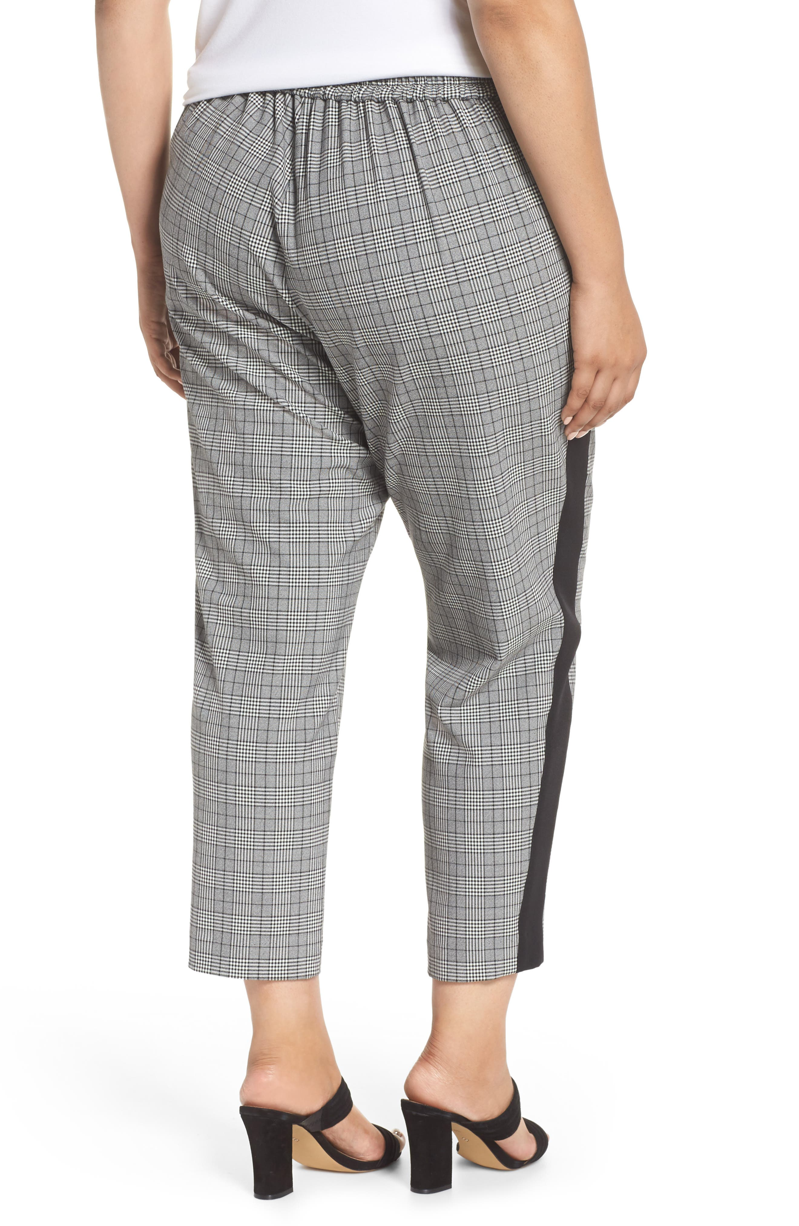 Menswear Crop Pants,                             Alternate thumbnail 2, color,                             HEATHER GREY COMBO