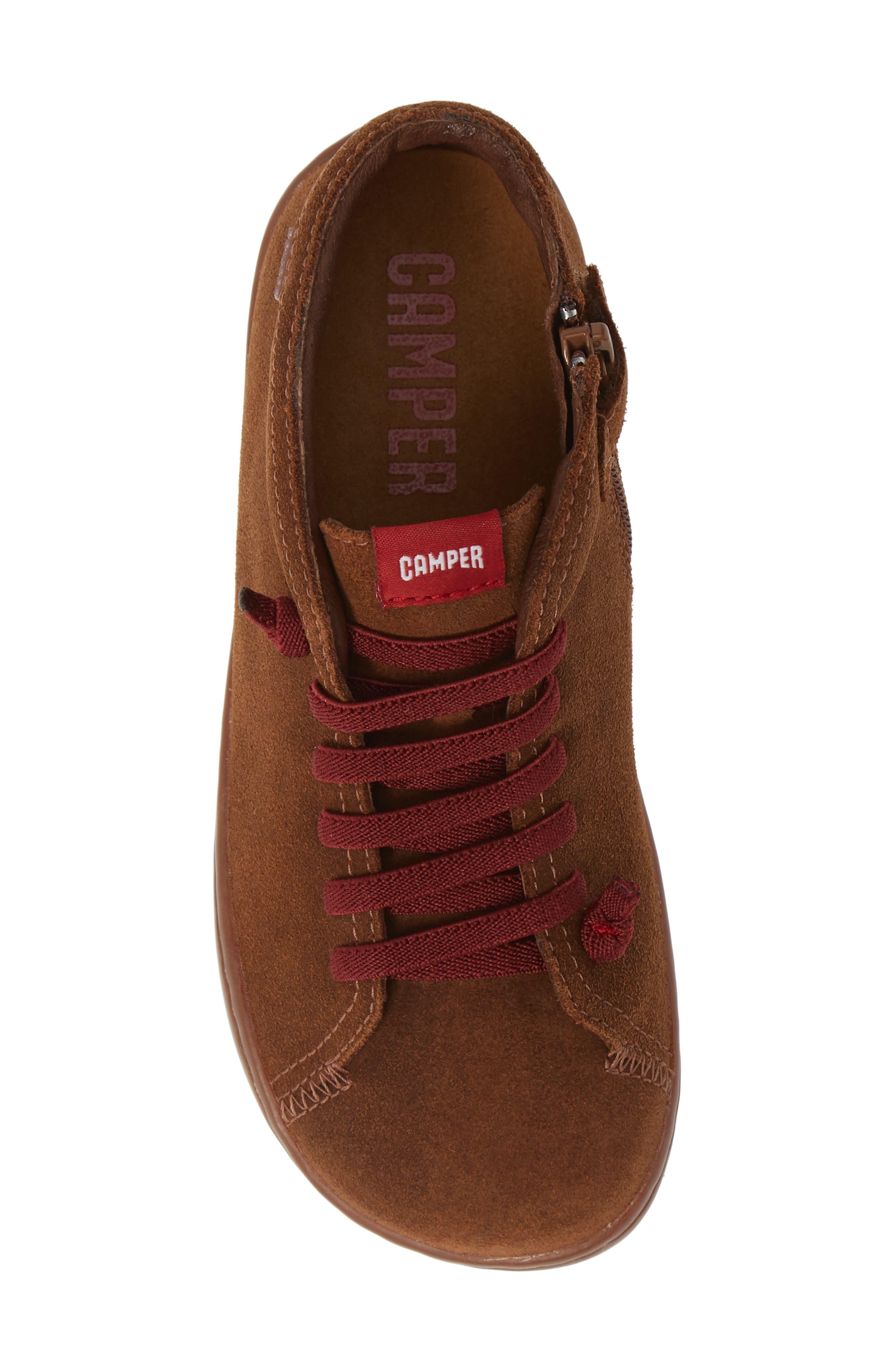 Peu Cami Sneaker,                             Alternate thumbnail 5, color,                             MEDIUM BROWN