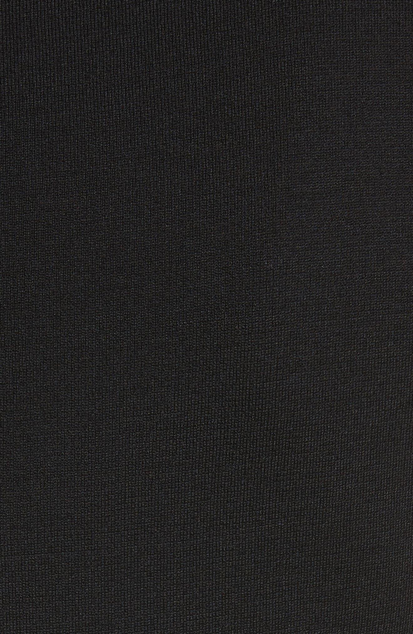 Silk Inset Milano Knit Tunic,                             Alternate thumbnail 5, color,                             001