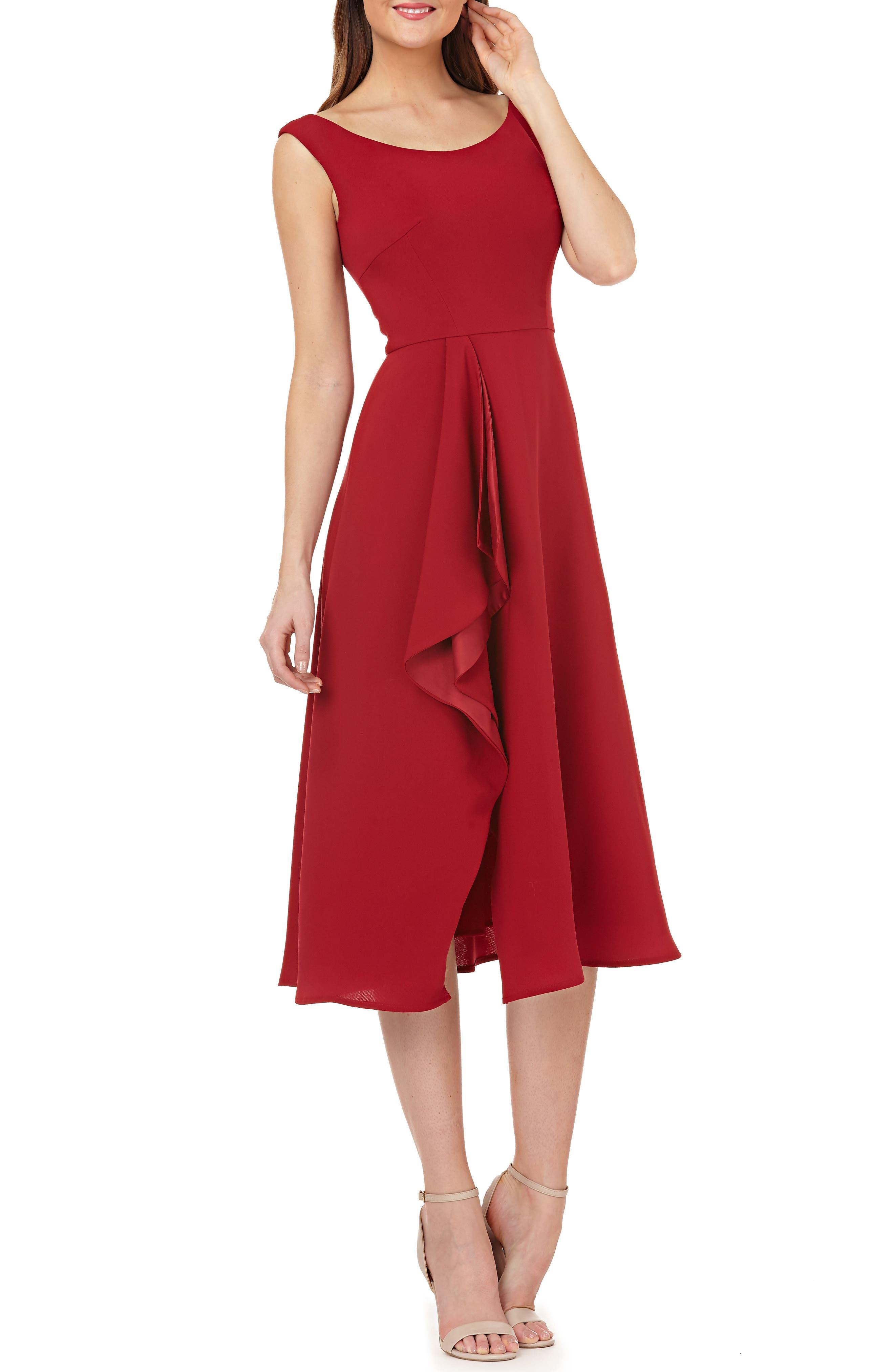 Carmen Marc Valvo Infusion Cascade Dress