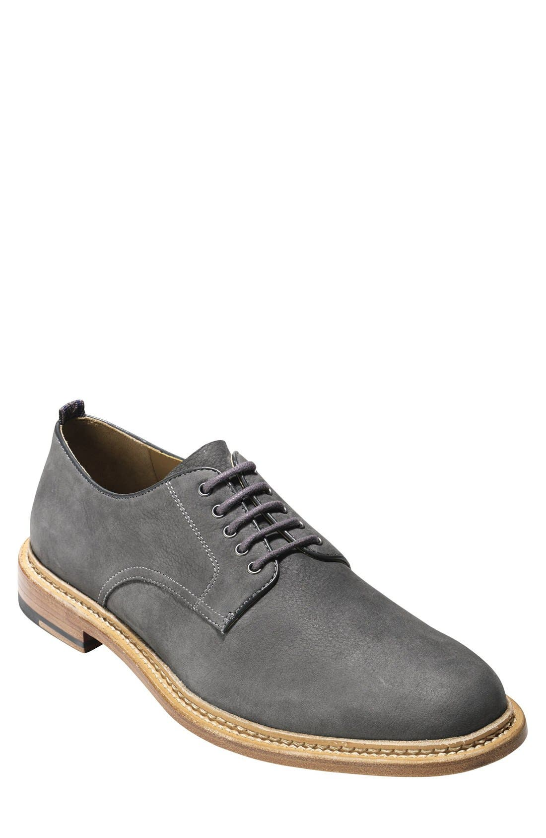 'Willet' Nubuck Plain Toe Derby,                             Main thumbnail 1, color,                             025