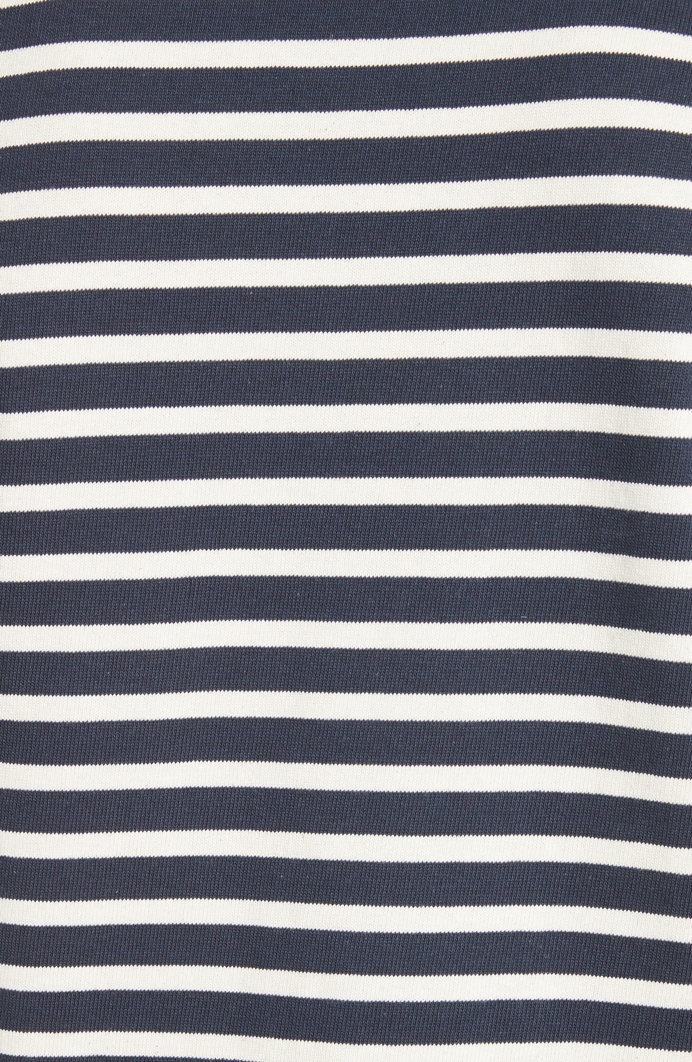Marinière Matt Stripe Long Sleeve T-Shirt,                             Alternate thumbnail 5, color,                             DARK NAVY
