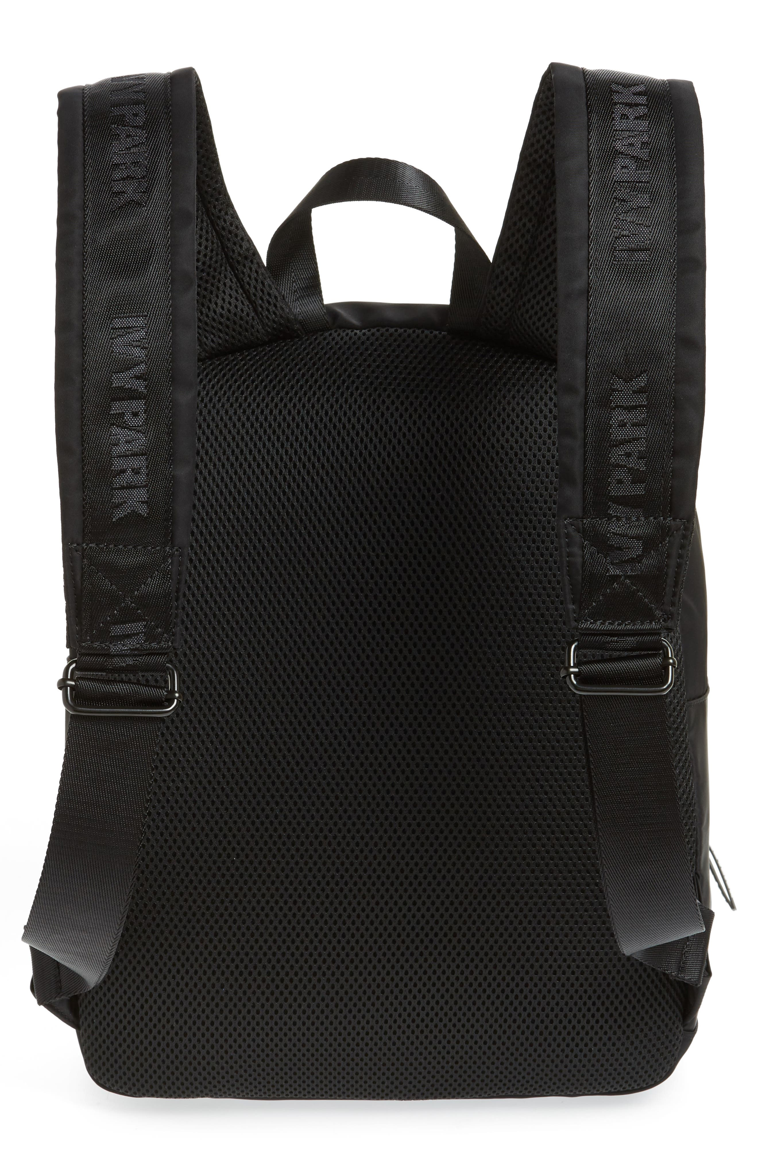 Layered Logo Backpack,                             Alternate thumbnail 3, color,                             BLACK