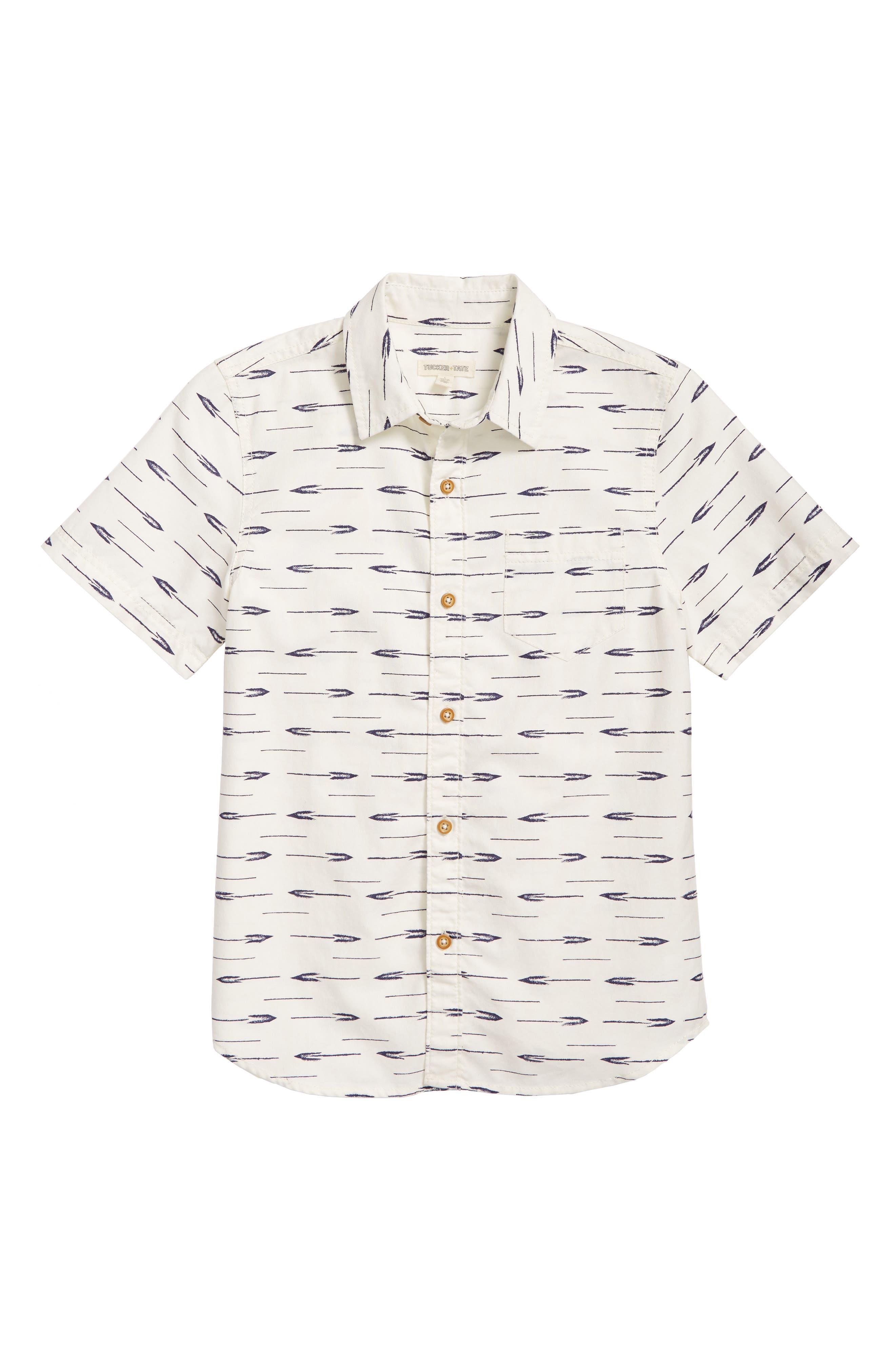 Print Woven Shirt,                             Alternate thumbnail 2, color,                             IVORY EGRET MARKS