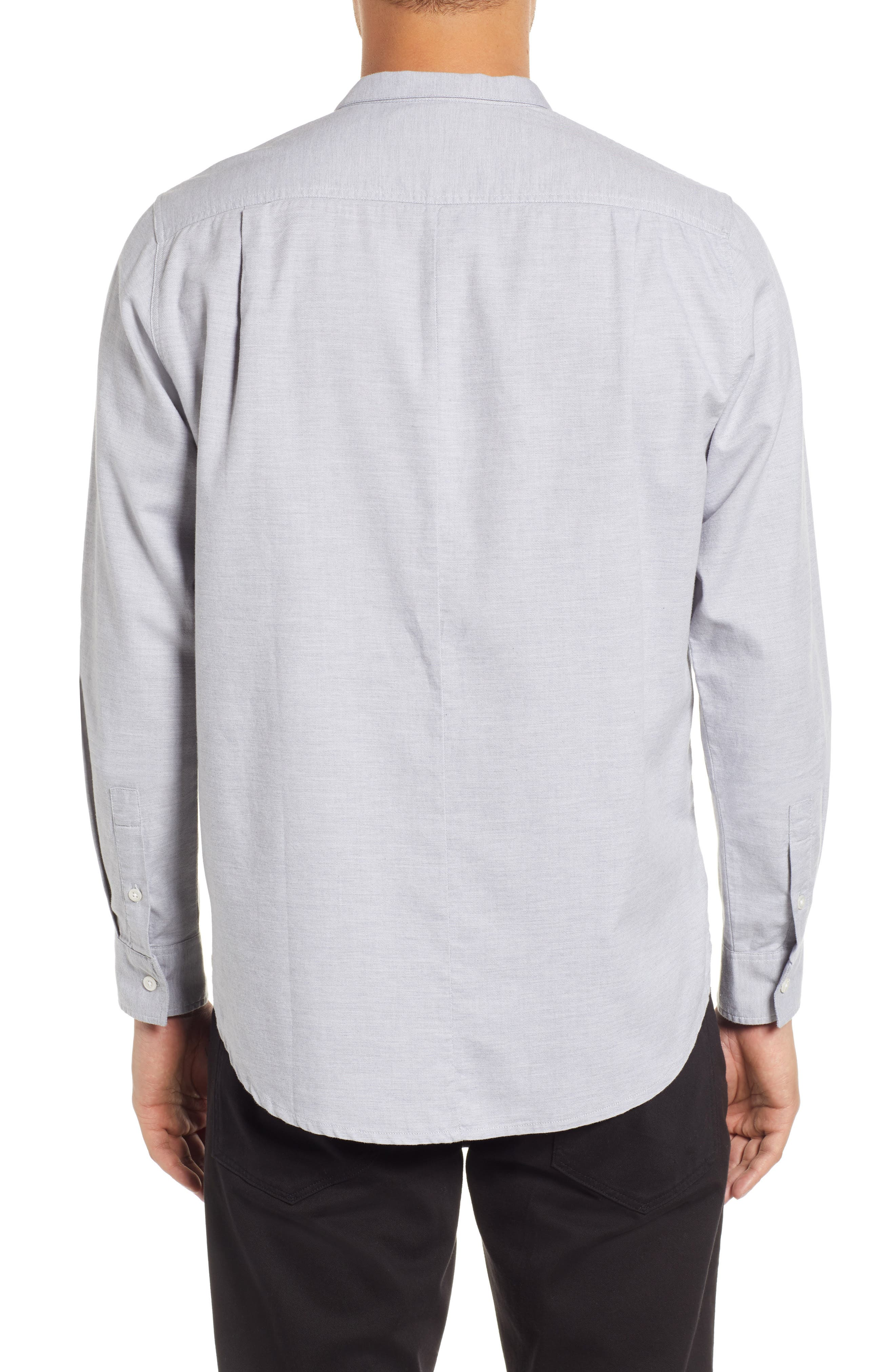 Rick Regular Fit Solid Sport Shirt,                             Alternate thumbnail 3, color,                             GREY MELANGE