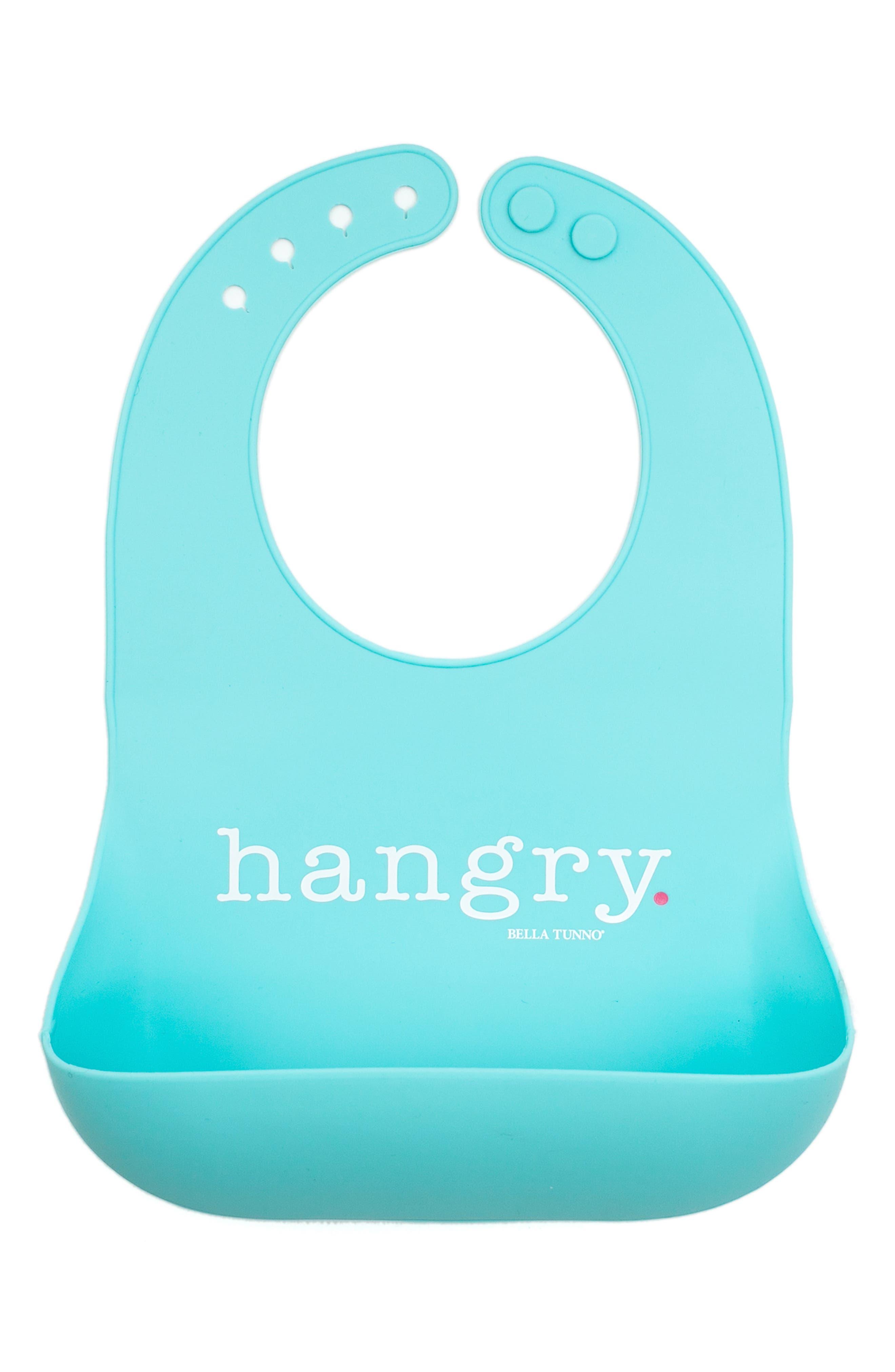 Hangry Wonder Bib,                         Main,                         color, BLUE