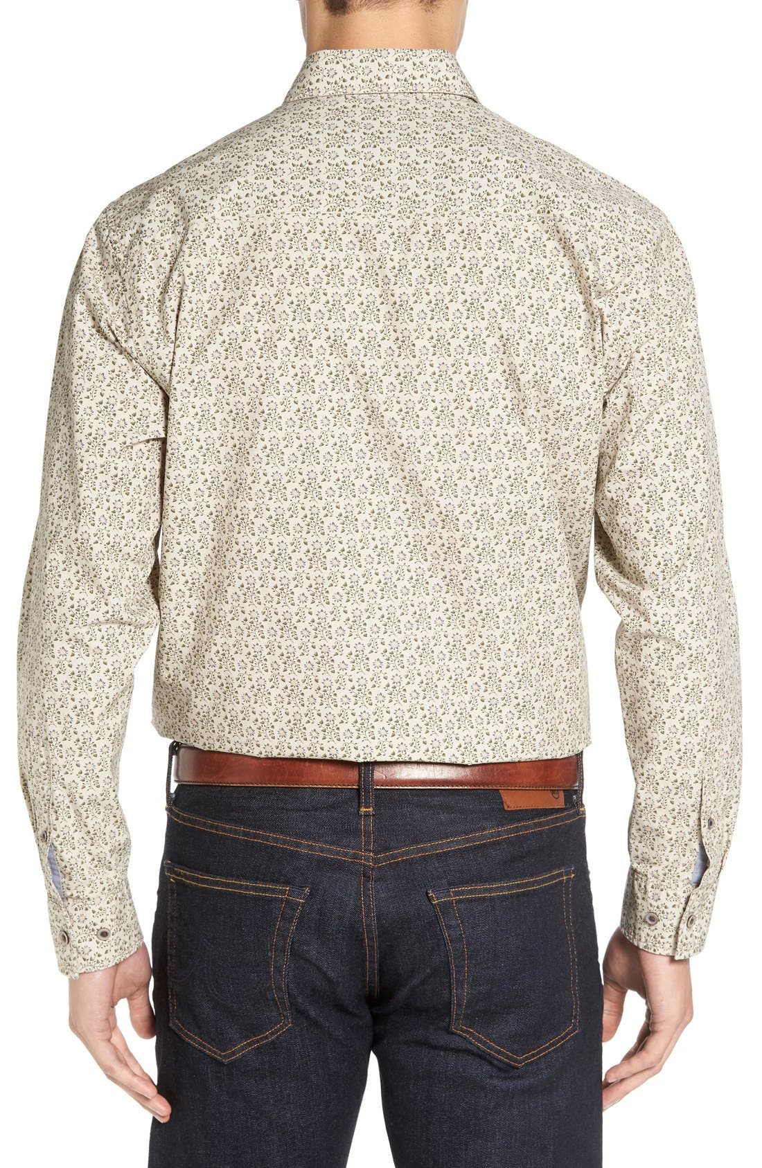 'Winston' Regular Fit Print Sport Shirt,                             Alternate thumbnail 4, color,                             200