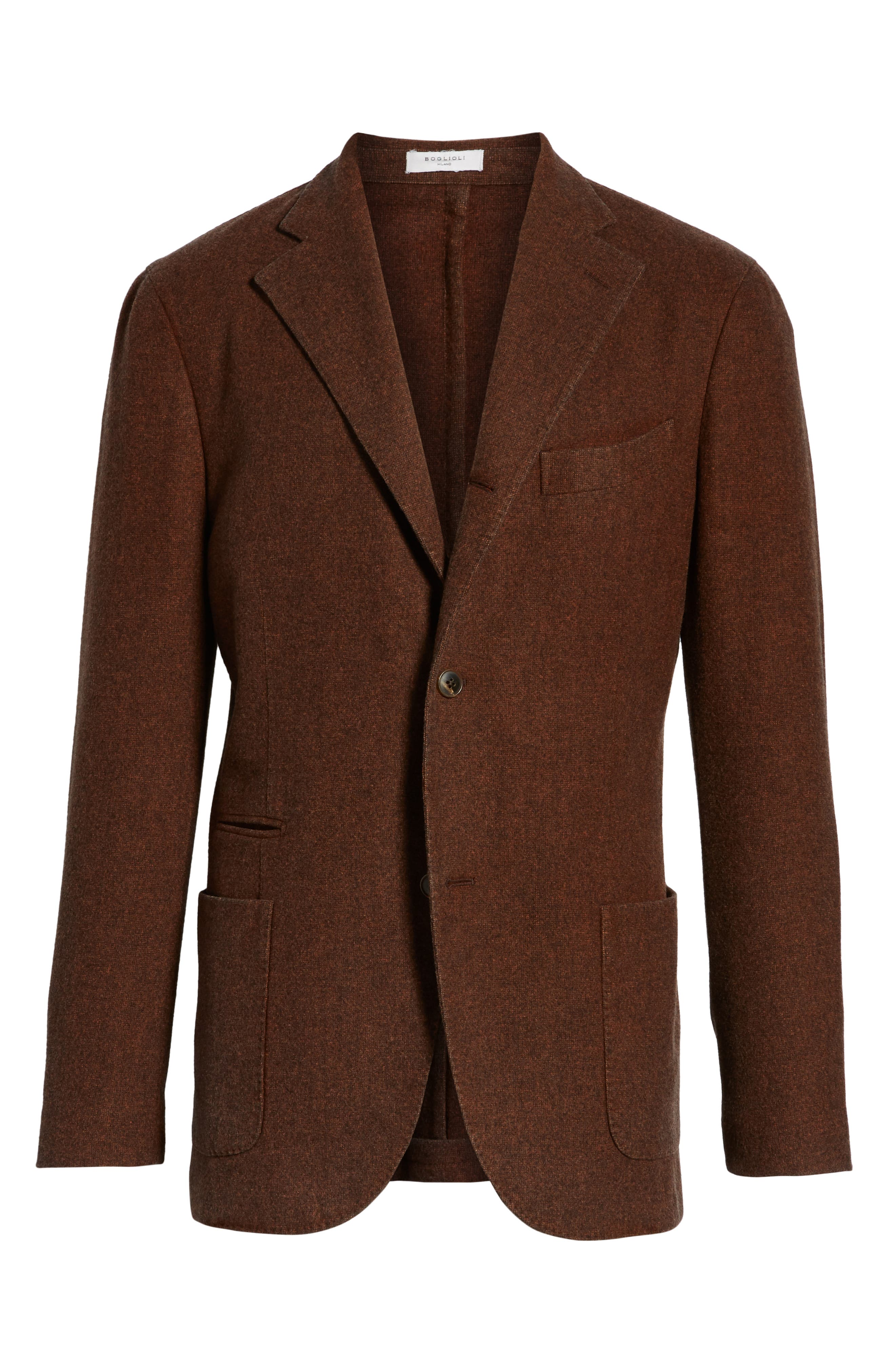 Trim Fit Wool Blazer,                             Alternate thumbnail 5, color,