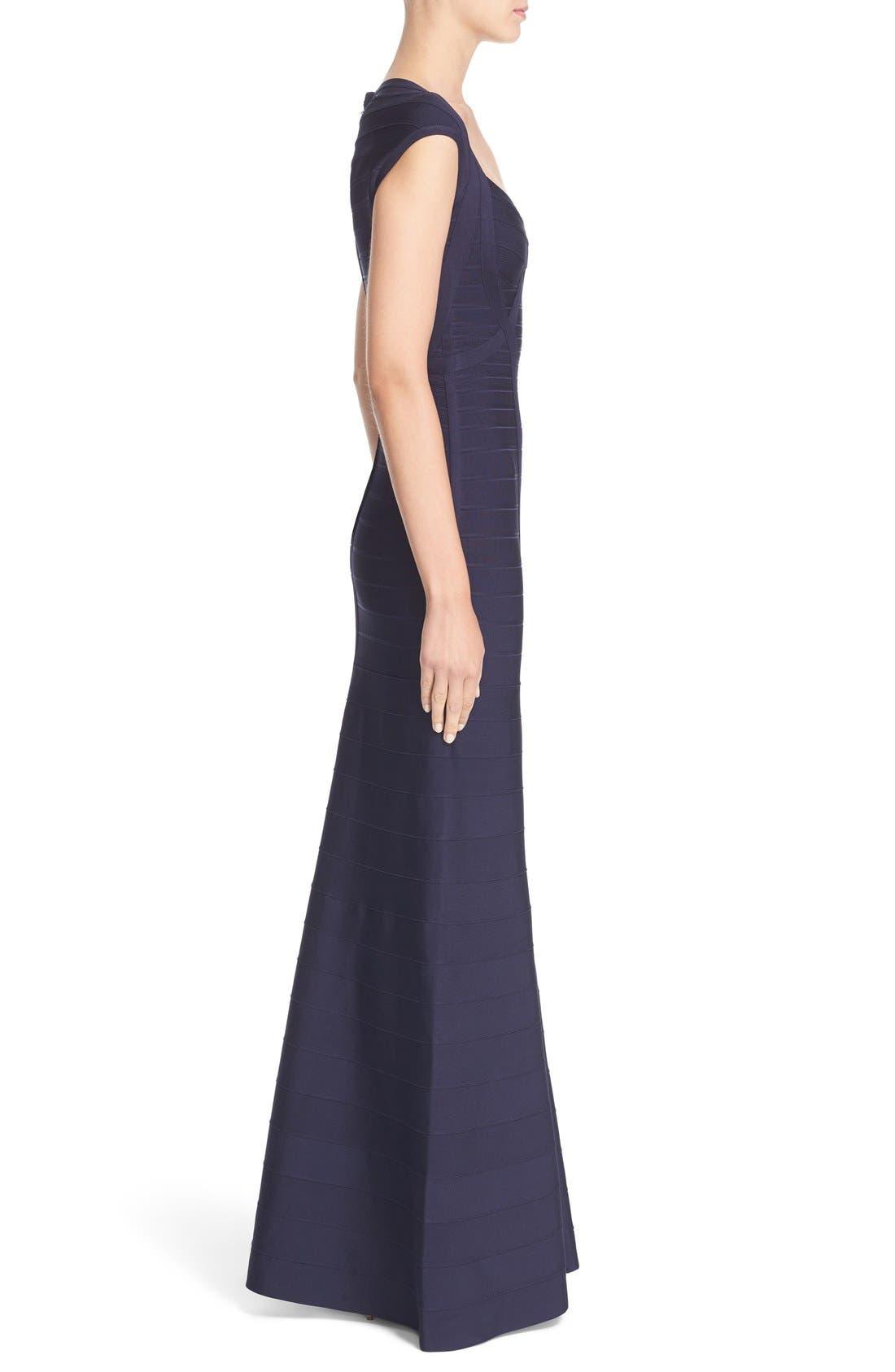 HERVE LEGER,                             'Catarina' Mermaid Bandage Gown,                             Alternate thumbnail 3, color,                             419