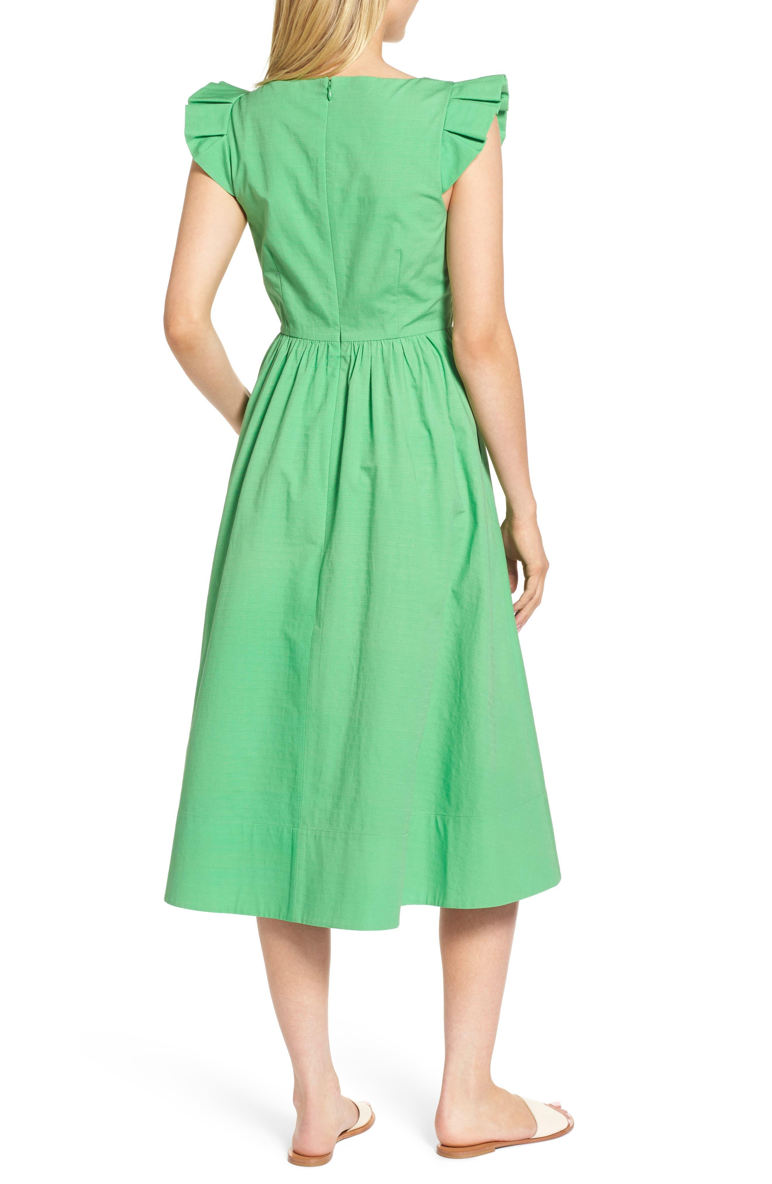 Ruffle Fit & Flare Midi Dress,                             Alternate thumbnail 2, color,                             330