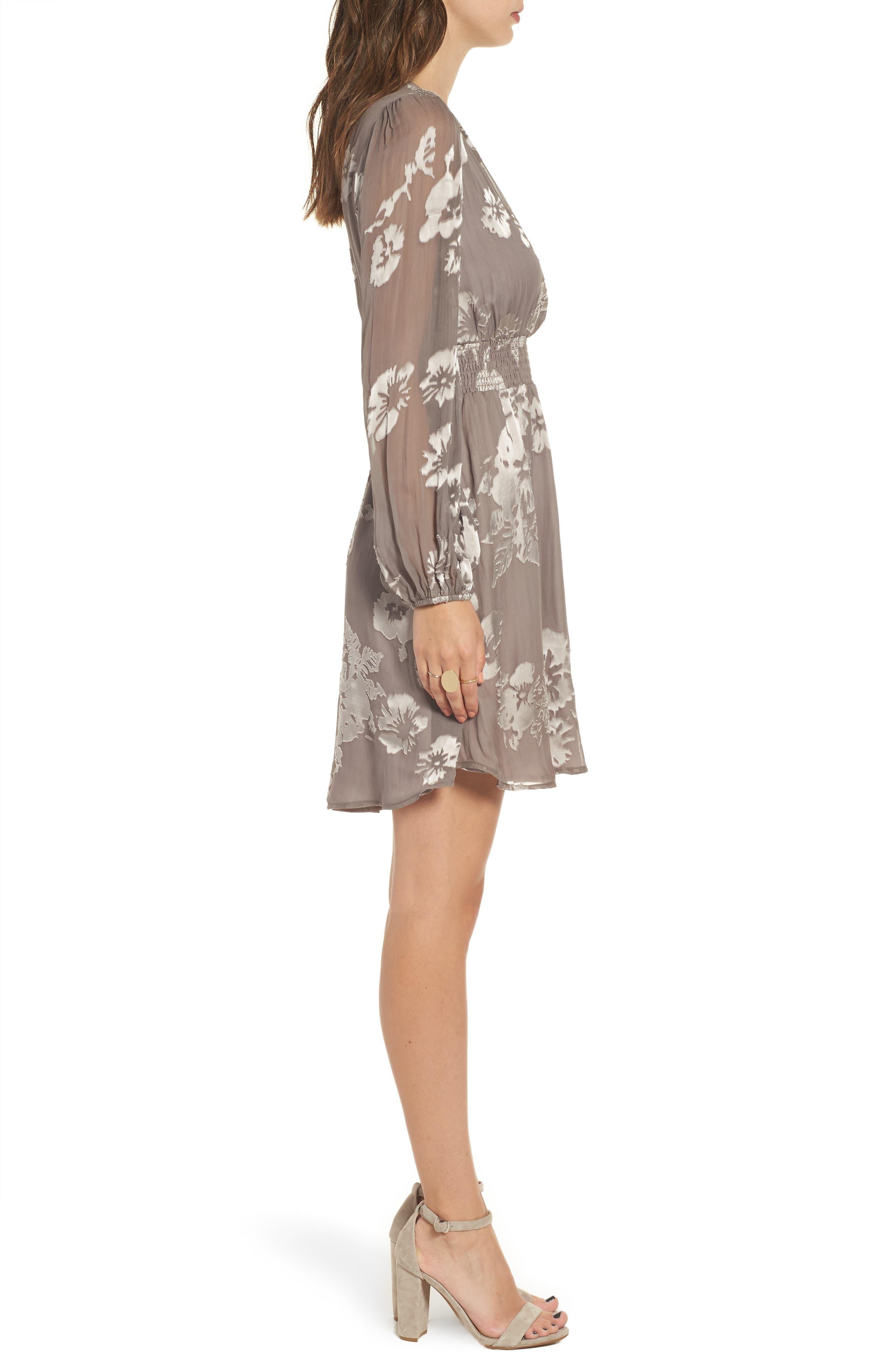 Mabeline Fit & Flare Dress,                             Alternate thumbnail 3, color,                             500