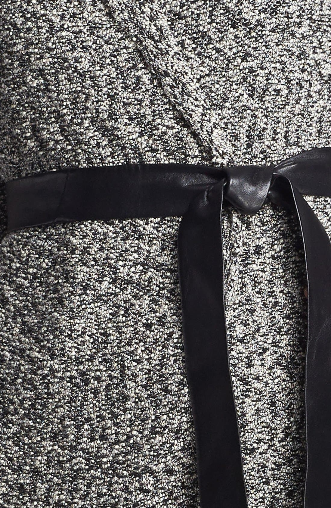 'Gallo' Belted Sweater Jacket,                             Alternate thumbnail 5, color,                             001