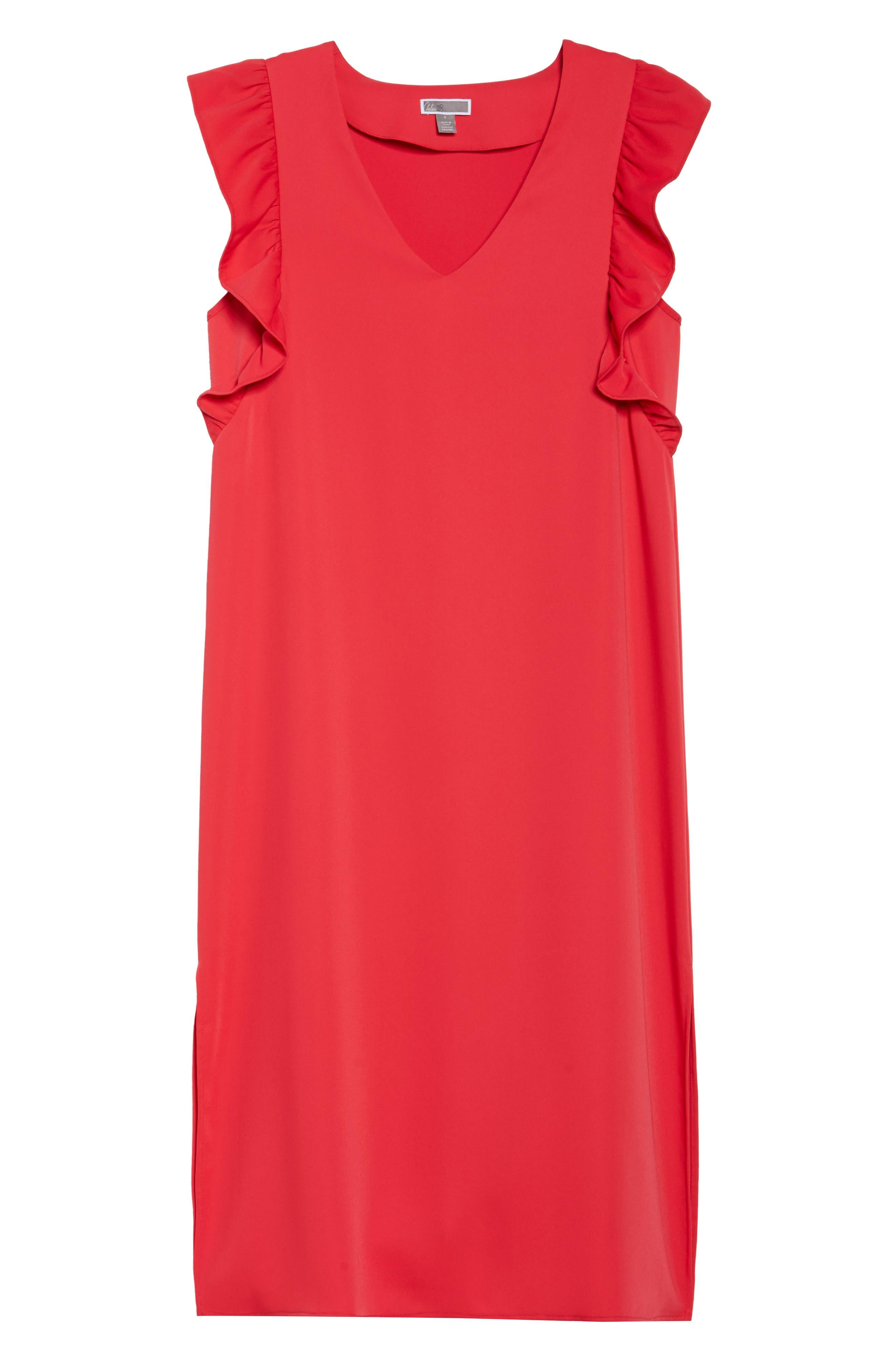 Ruffle Midi Dress,                             Alternate thumbnail 6, color,                             610