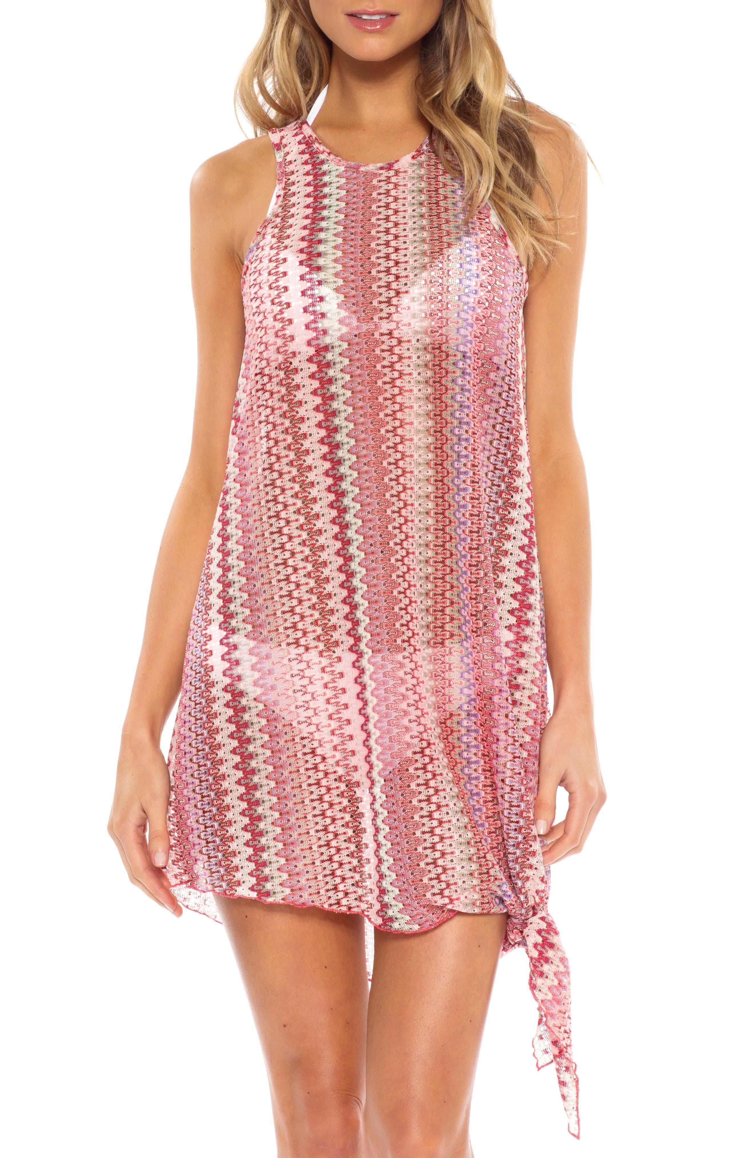 Becca Pierside Knot Cover-Up Dress, Pink