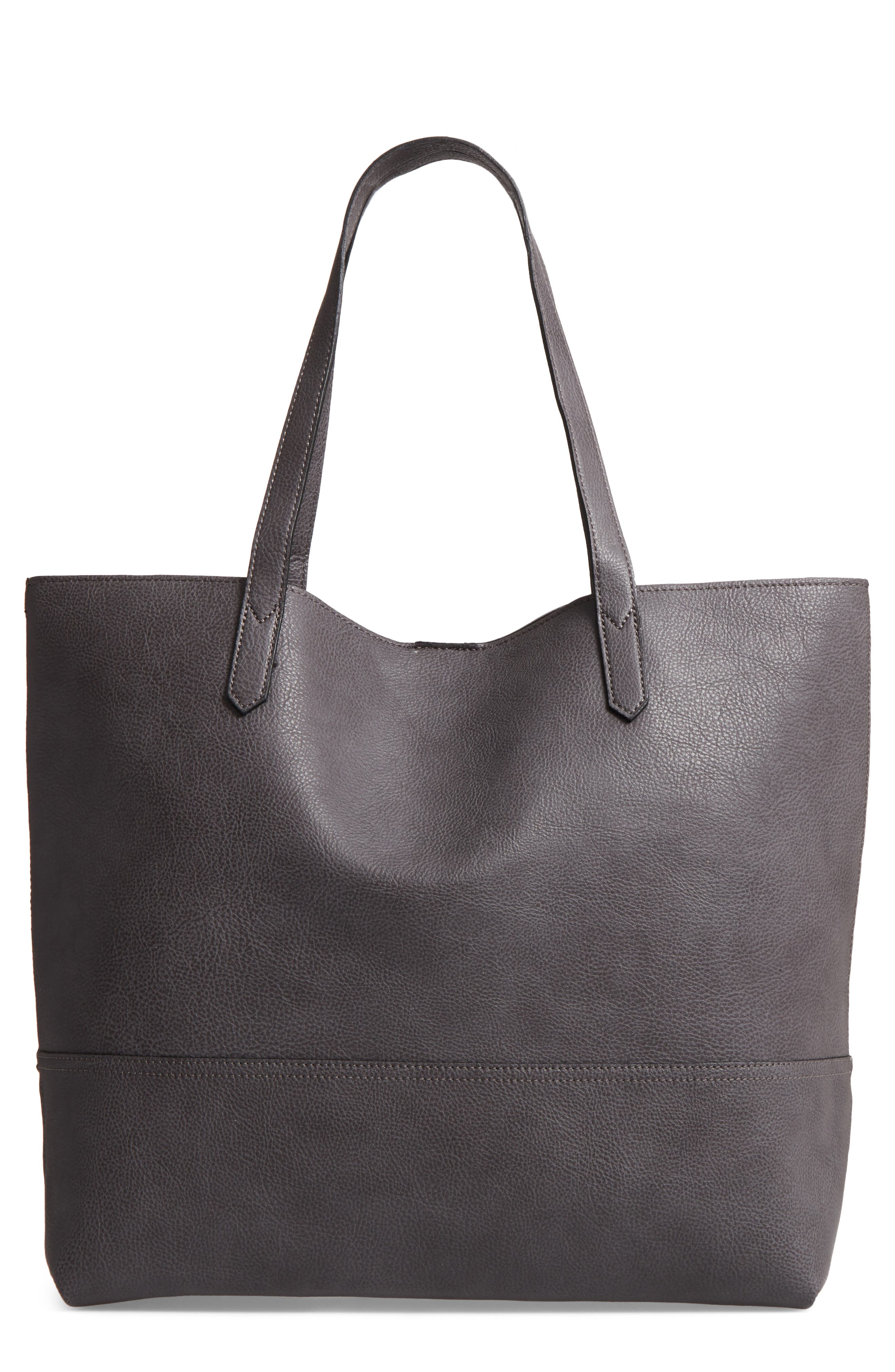 Dawson Oversize Faux Leather Shopper,                         Main,                         color, 021