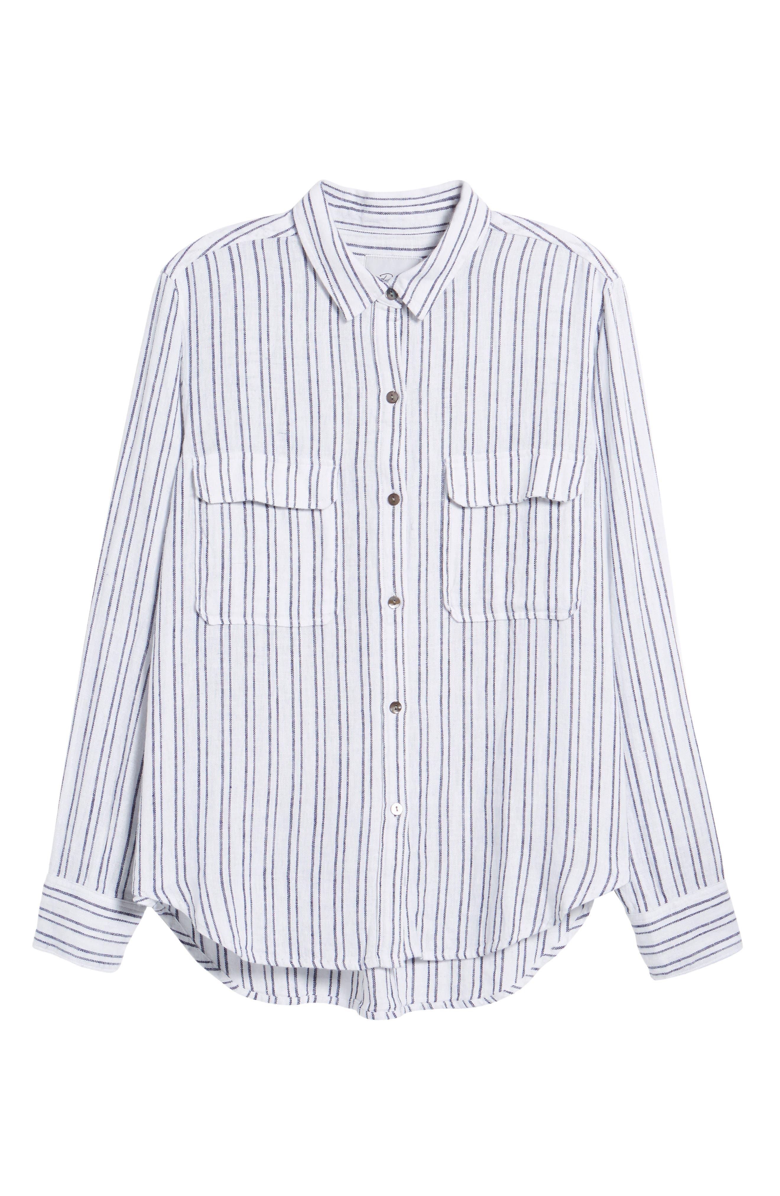 Jimi Stripe Shirt,                             Alternate thumbnail 6, color,