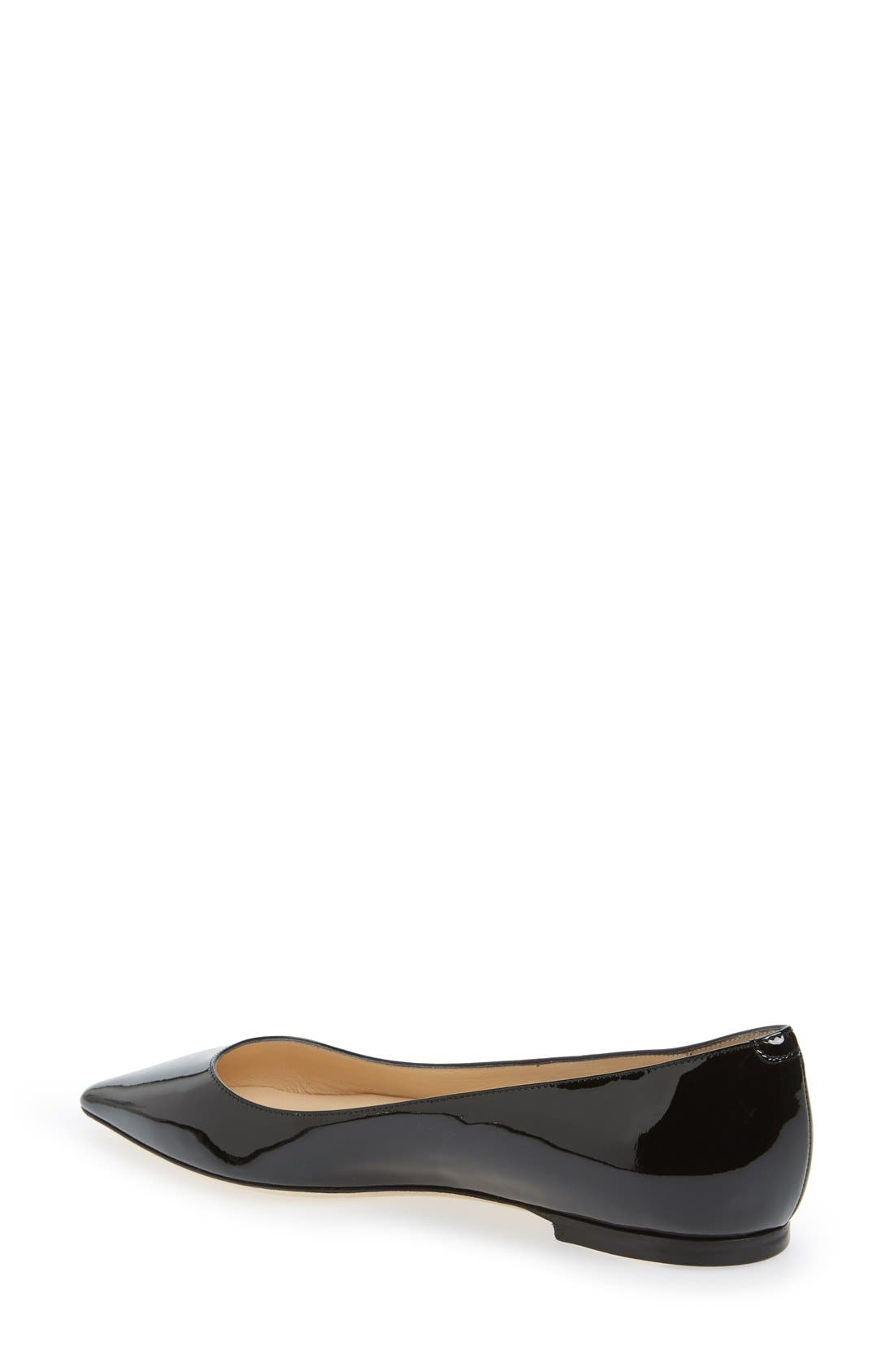 JIMMY CHOO,                             'Romy' Pointy Toe Flat,                             Alternate thumbnail 2, color,                             004