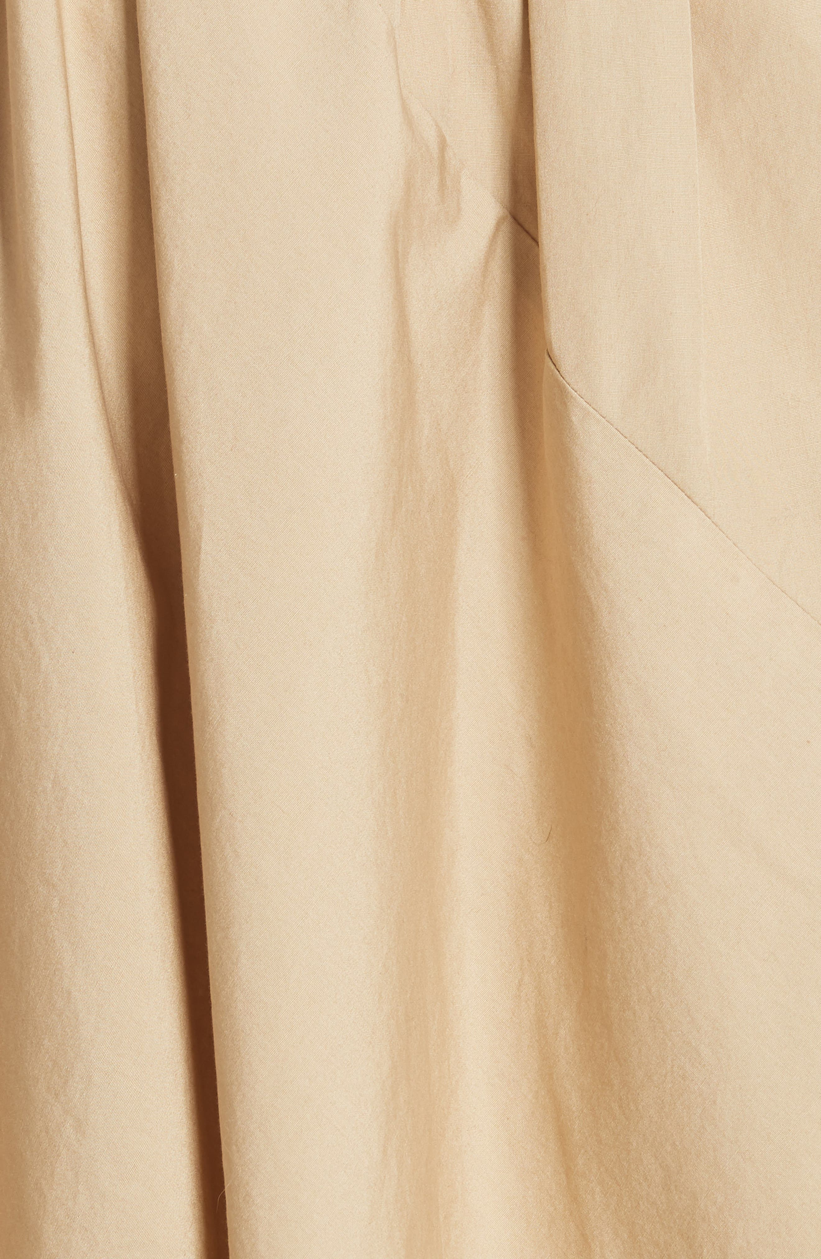 Asymmetrical Drawstring Cotton Skirt,                             Alternate thumbnail 5, color,                             KHAKI