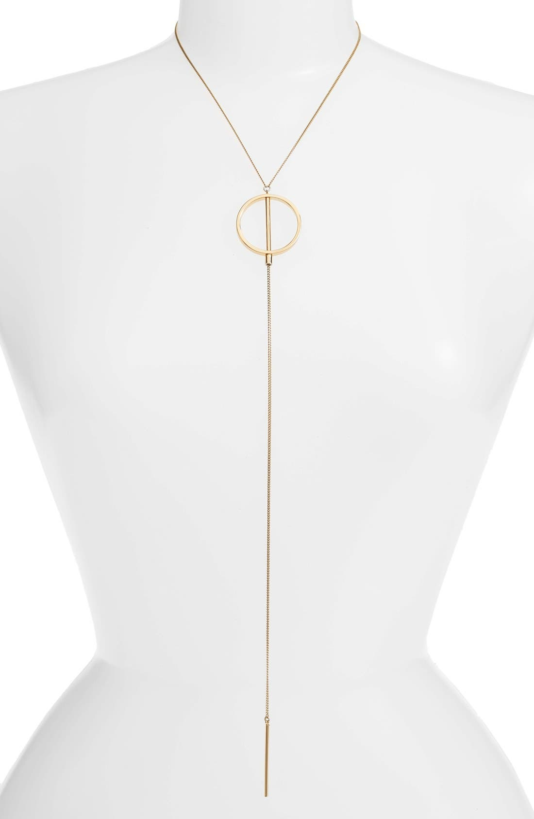 Rhine Lariat Necklace,                             Alternate thumbnail 4, color,                             GOLD