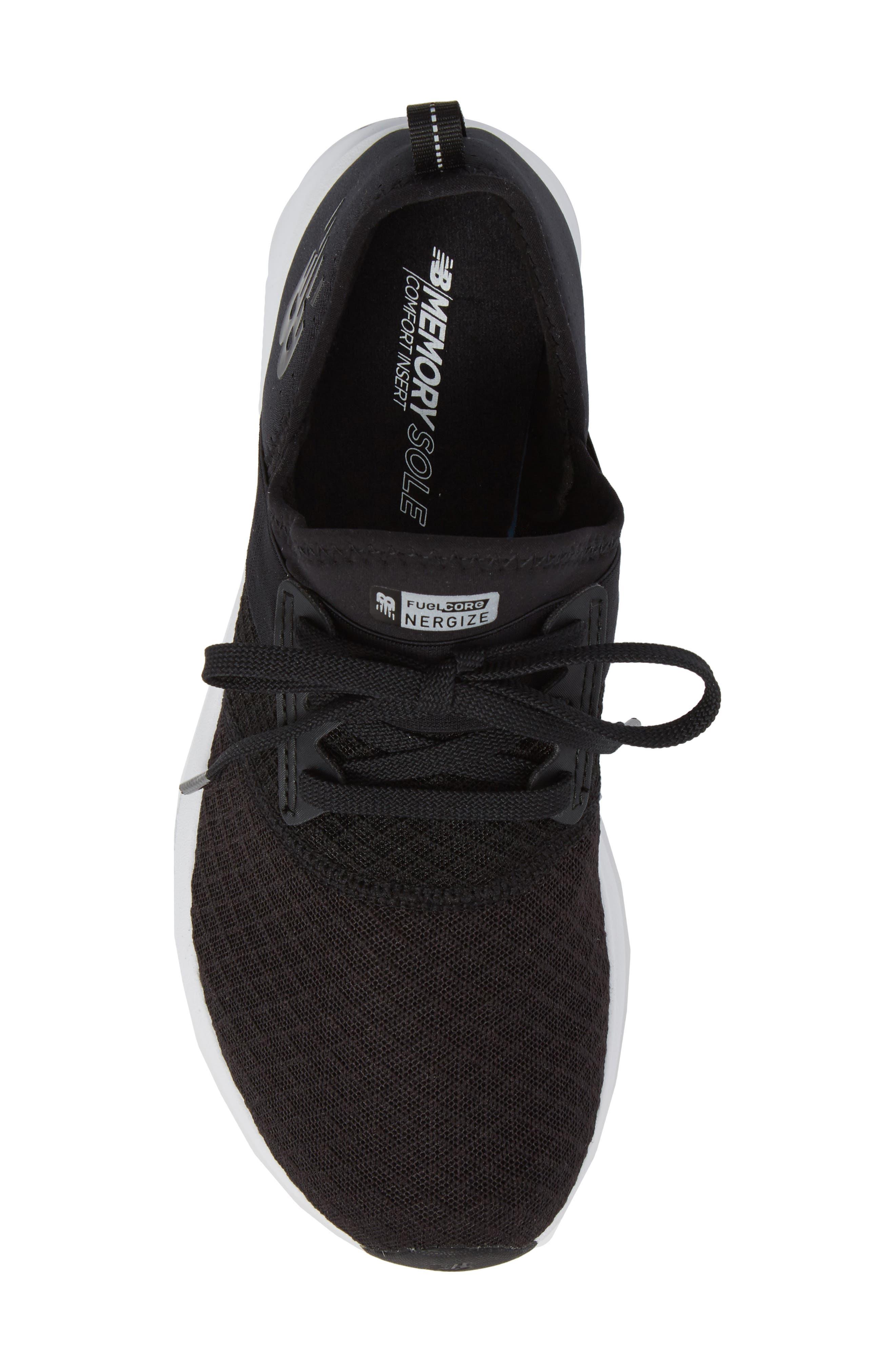 NEW BALANCE,                             FuelCore NERGIZE Sneaker,                             Alternate thumbnail 5, color,                             BLACK