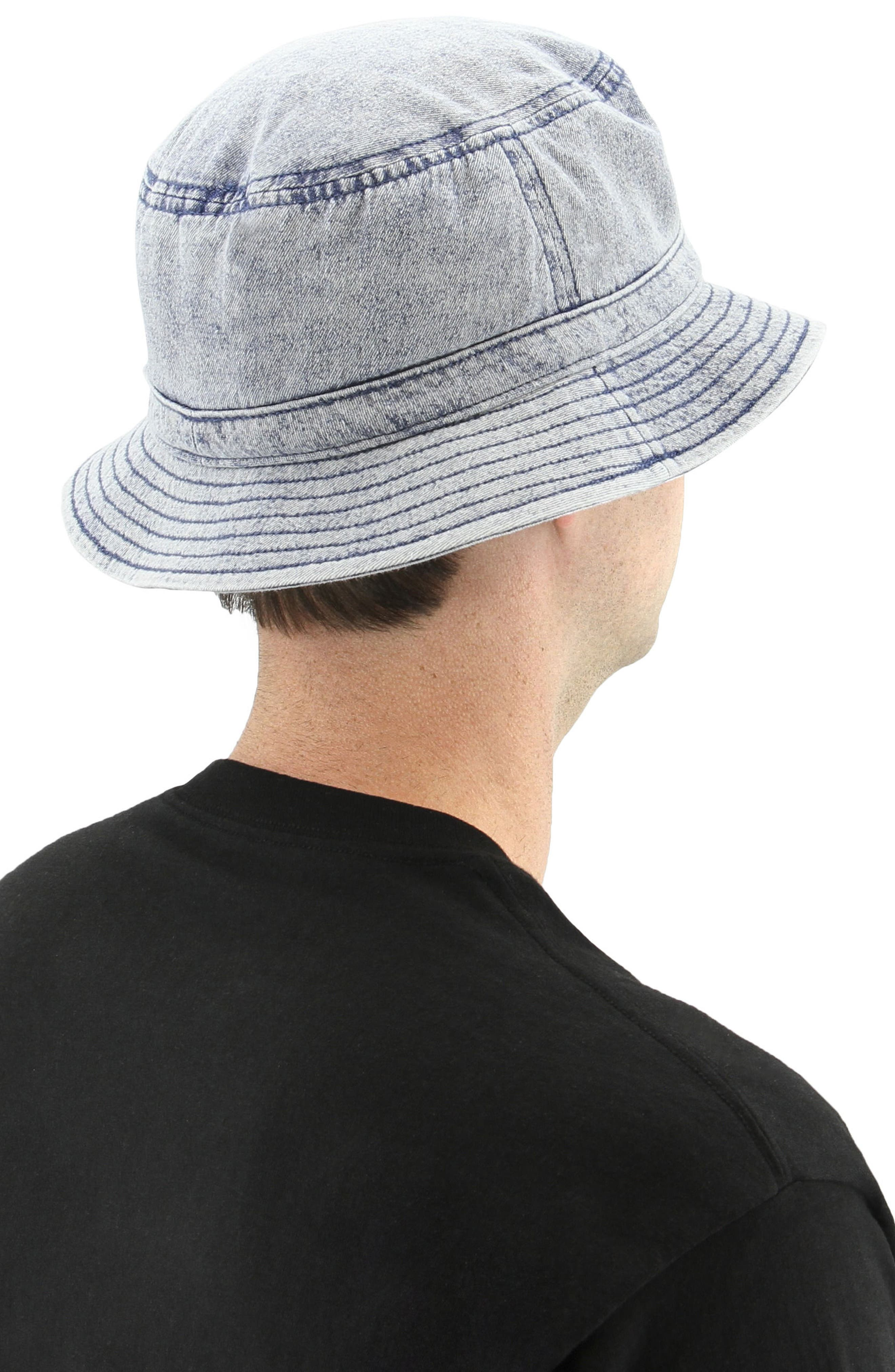 Denim Bucket Hat,                             Alternate thumbnail 4, color,                             420