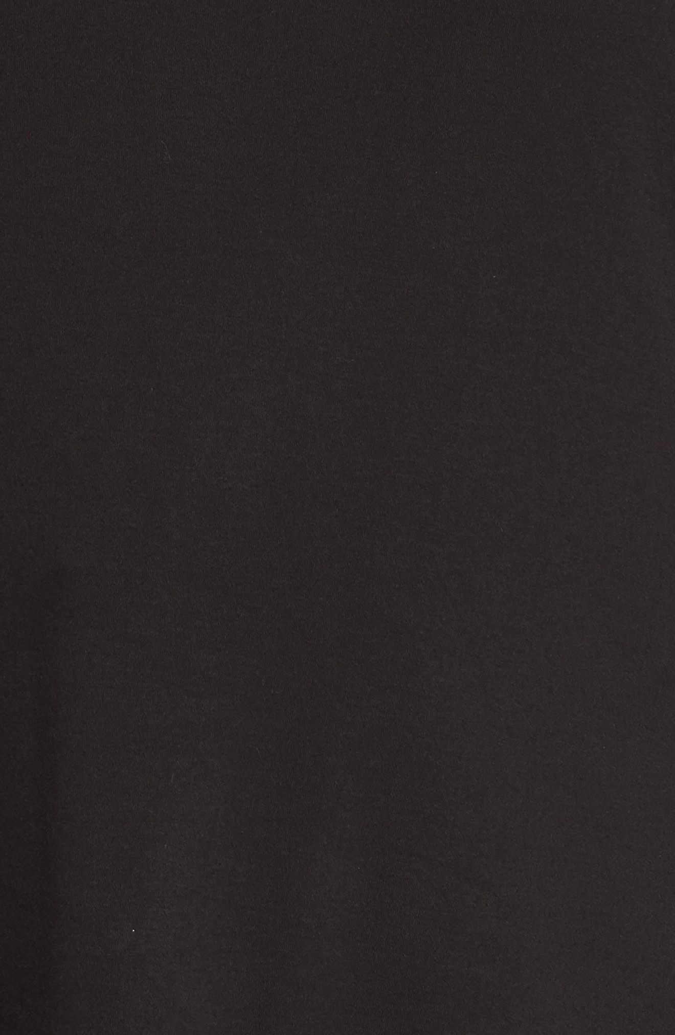 Pleat Ruffle Sleeve Top,                             Alternate thumbnail 5, color,                             001