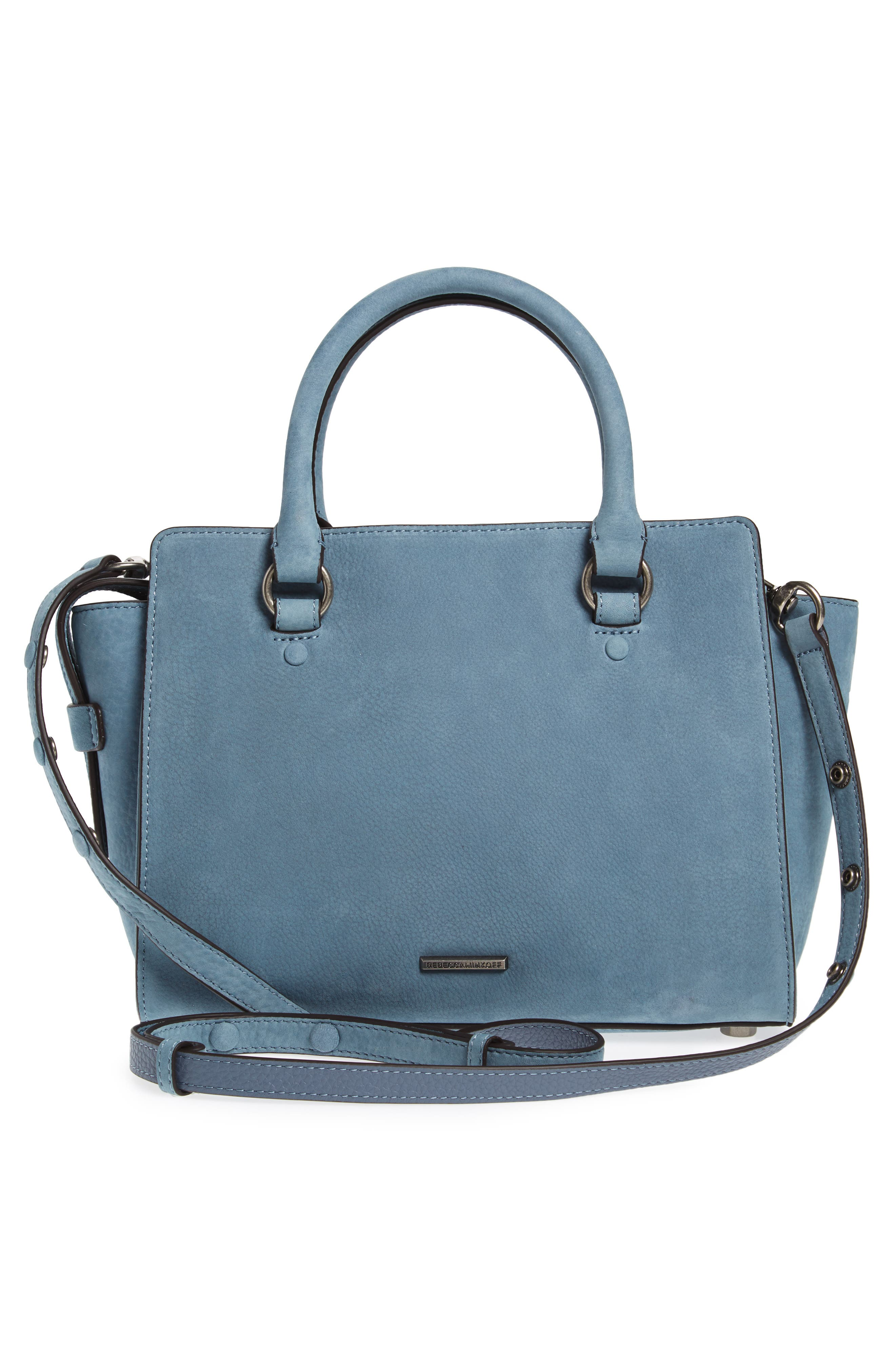Small Jamie Leather Satchel,                             Alternate thumbnail 3, color,