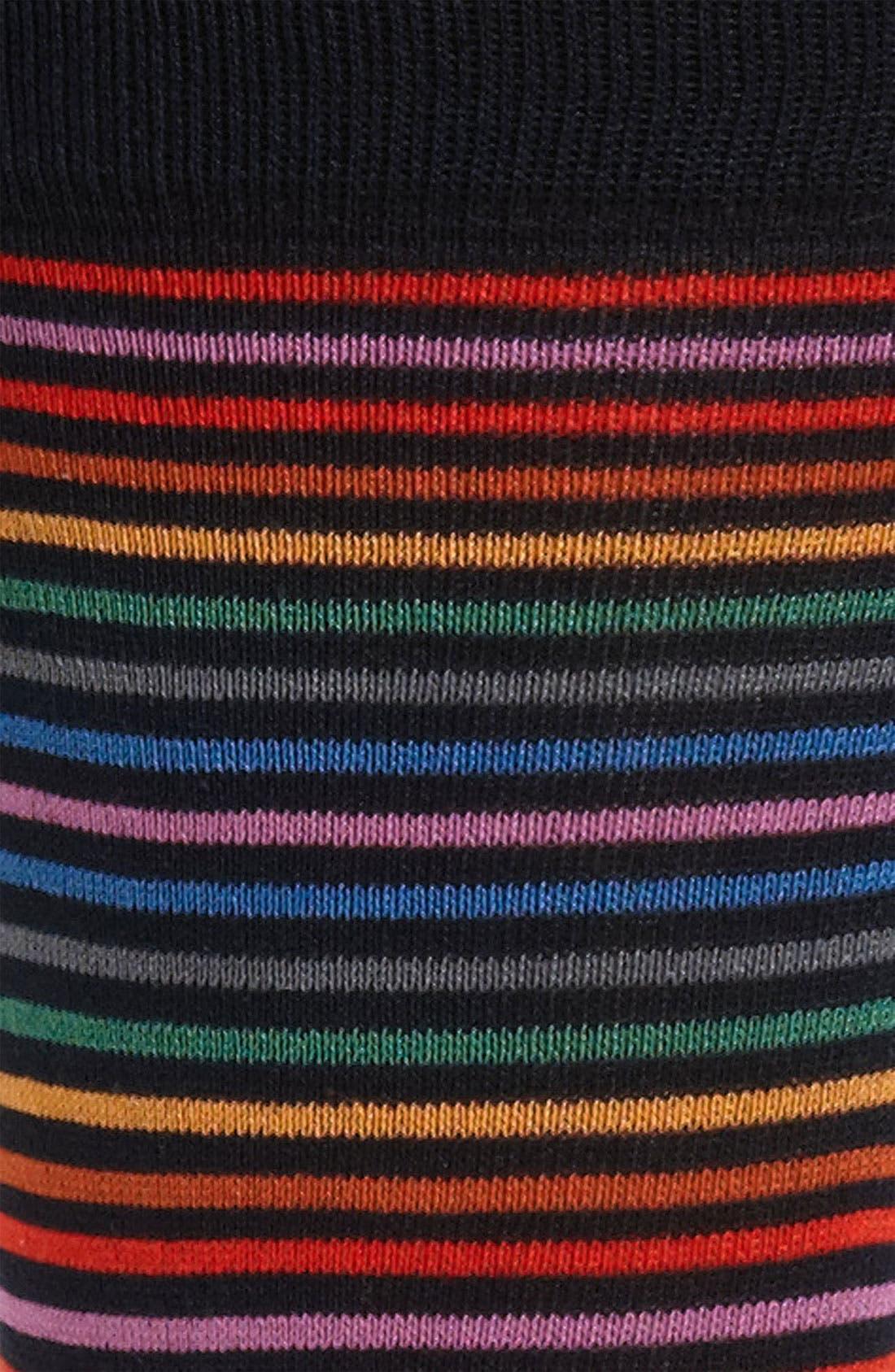 Uomo Stripe Socks,                             Alternate thumbnail 2, color,                             001