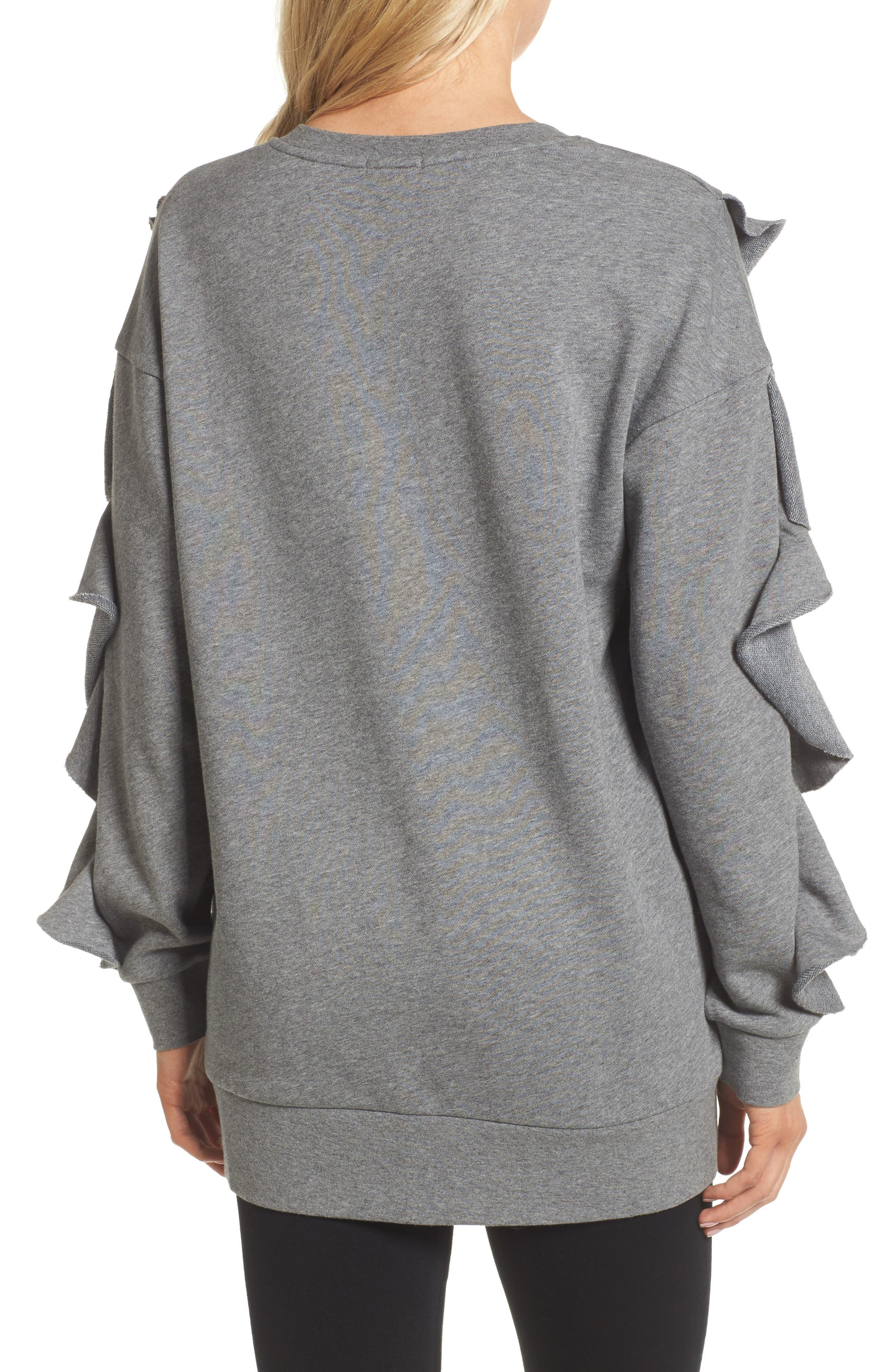 Ruffle Sweatshirt,                             Alternate thumbnail 3, color,