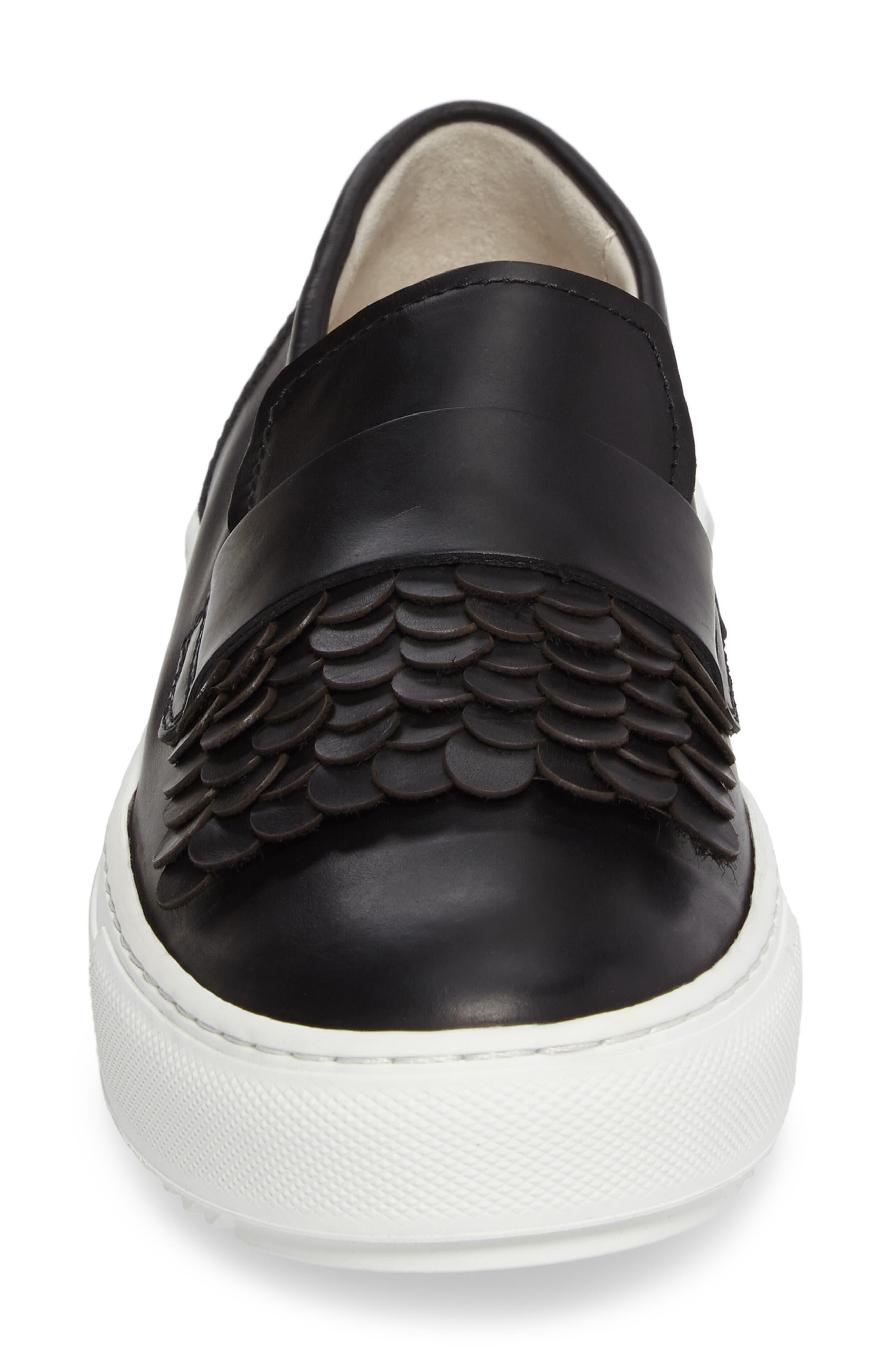 Paillette Skater Sneaker,                             Alternate thumbnail 4, color,                             001