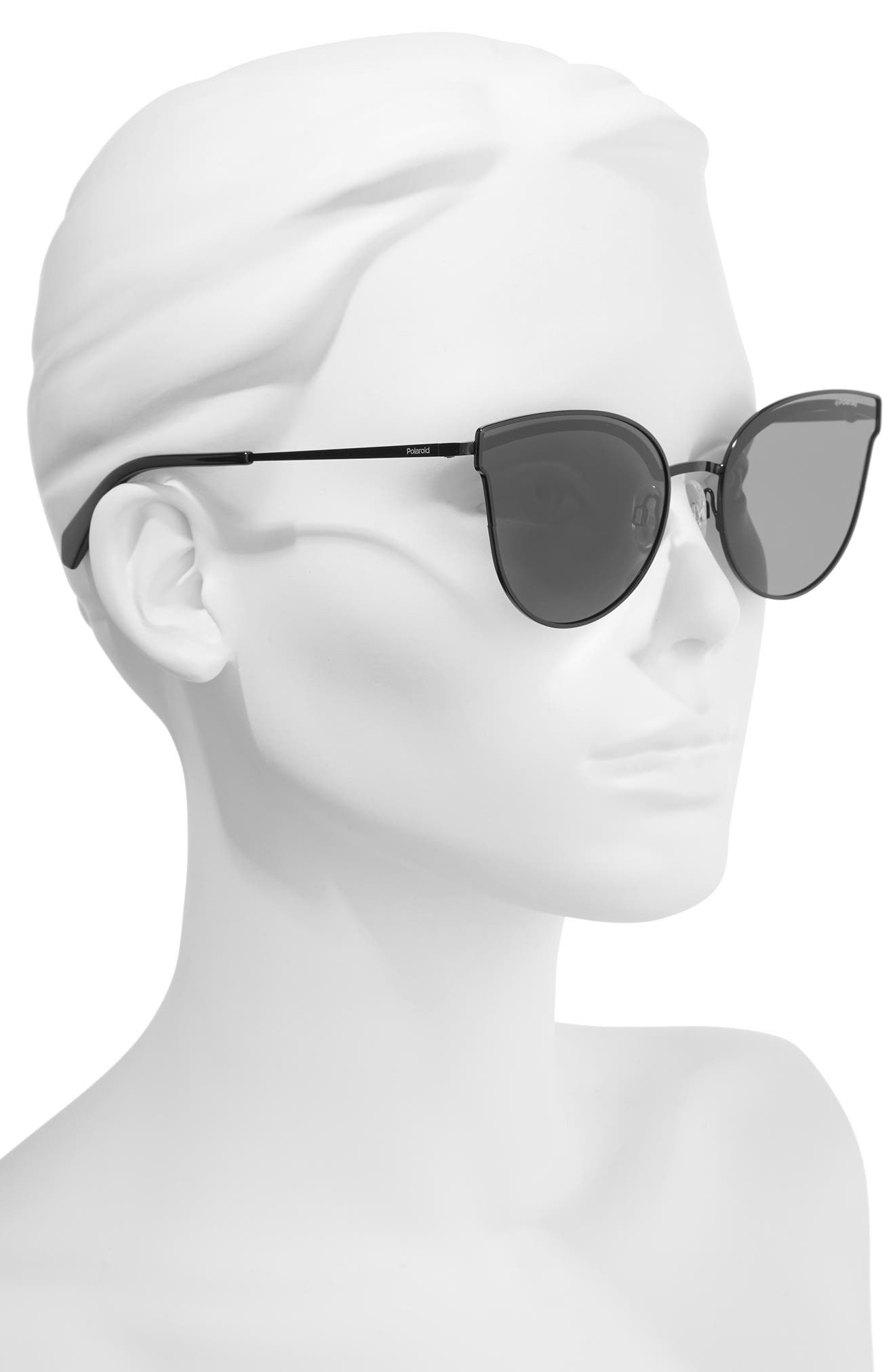 58mm Polarized Butterfly Sunglasses,                             Alternate thumbnail 2, color,                             001