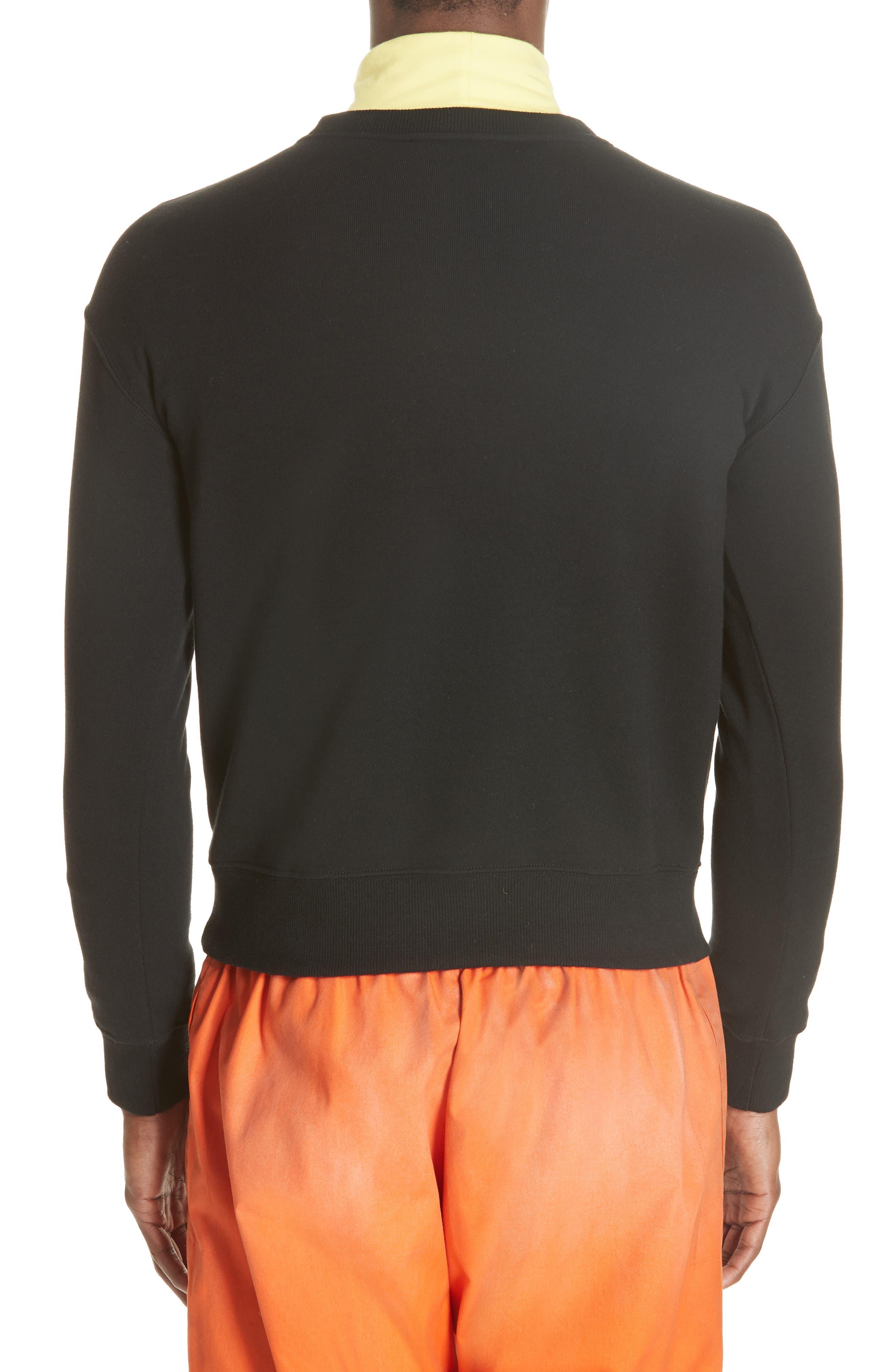 Established Embroidered Sweatshirt,                             Alternate thumbnail 2, color,                             BLACK